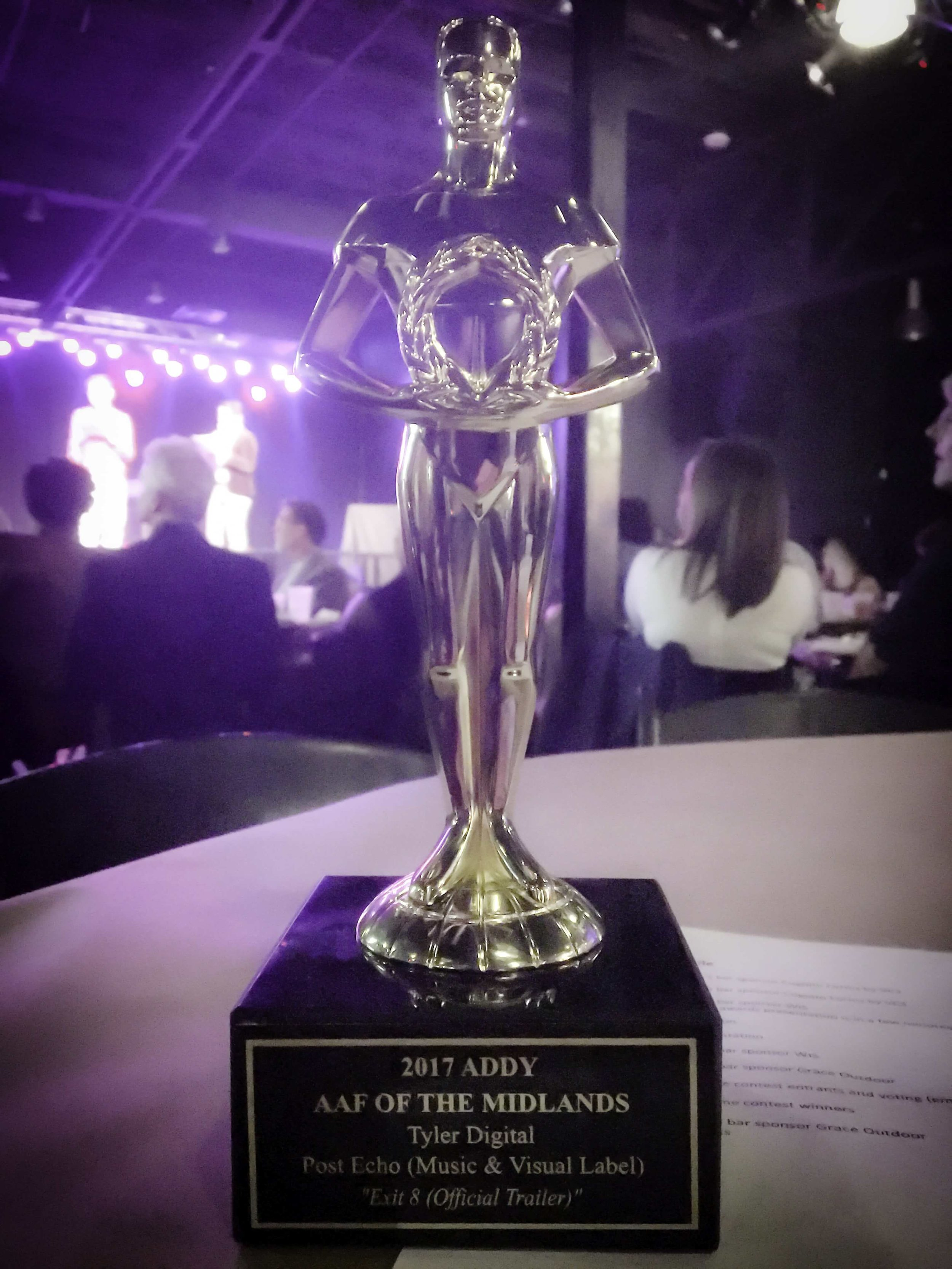 American Advertising Awards — Gold Award - Elements of Advertising - Original Music Composition, Exit 8 Trailer