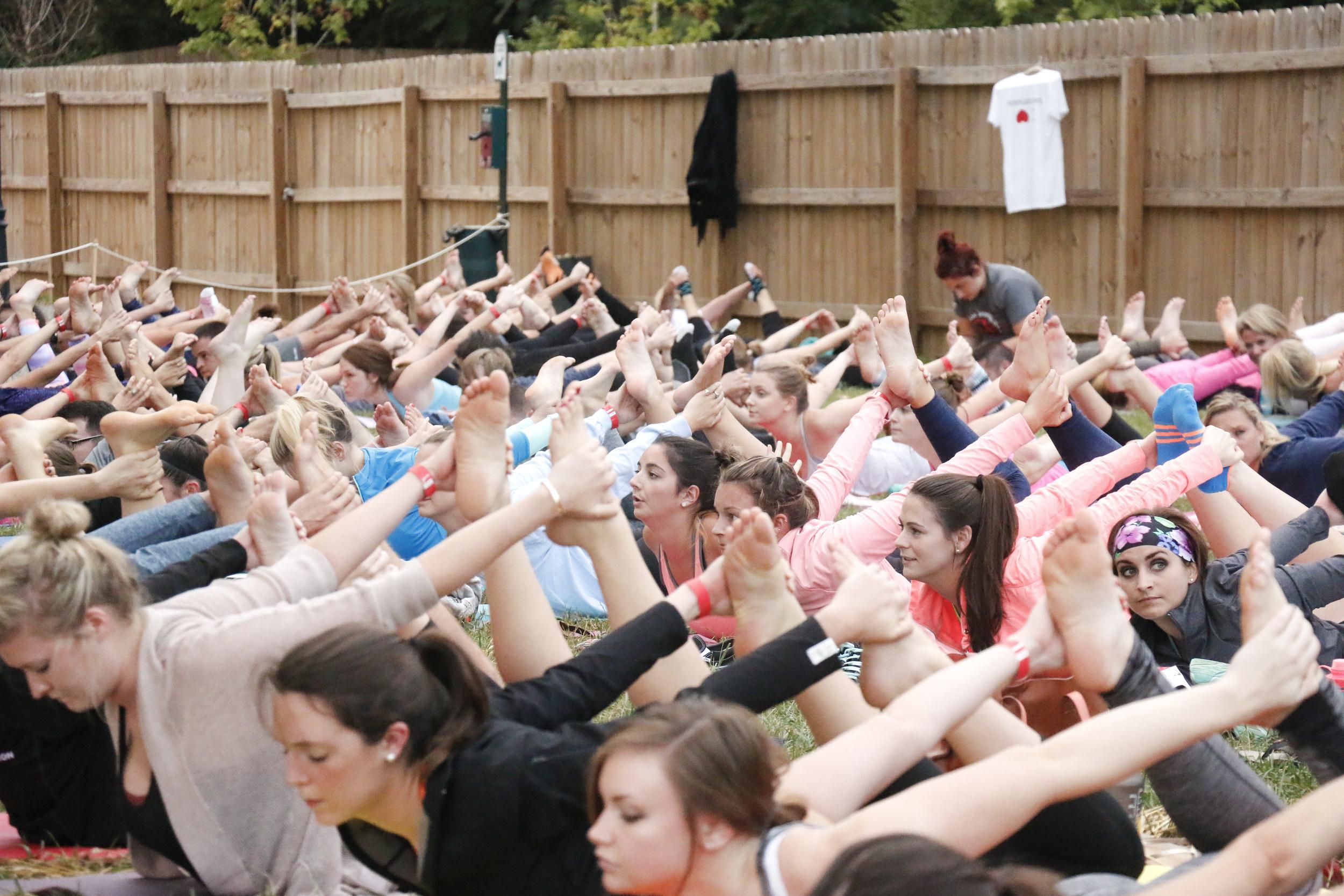Outdoor Charlotte Yoga Class