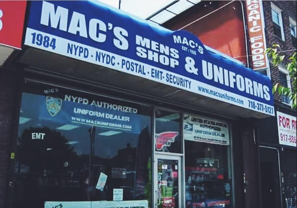Mac's Uniforms Storefront