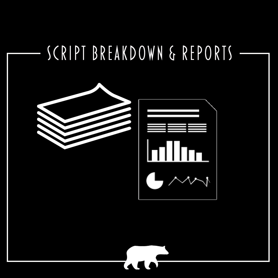 Script breakdown, reports, report