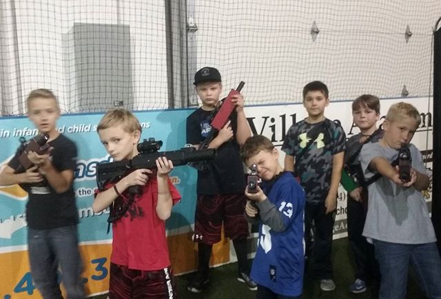 Laser tag fun any time of the year...today at locker soccer in powell