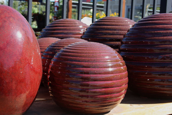 ceramic orbs for the garden