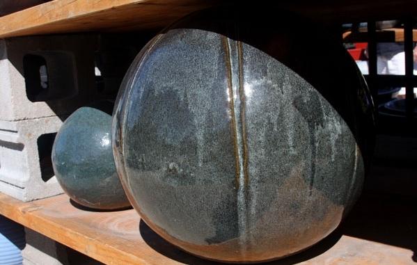ceramic orbs for the garden