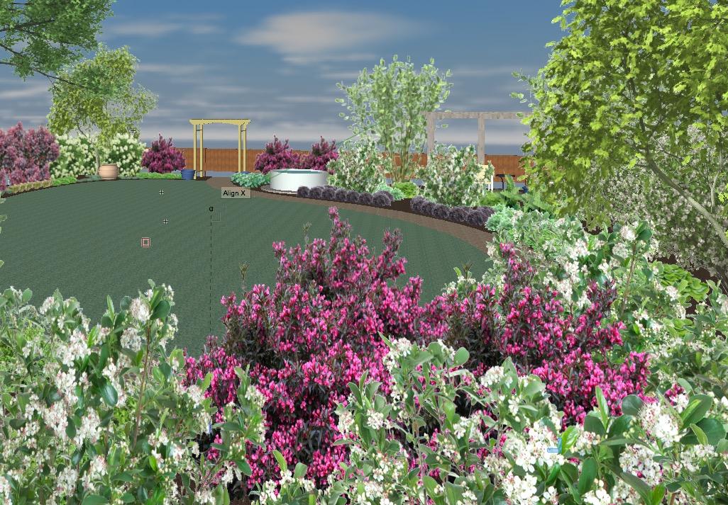 Ames Iowa Backyard Landscape Design garden Landscaping red Fern landscape Design