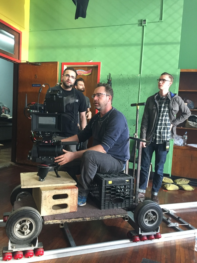 DP Mike Burke on his dolly