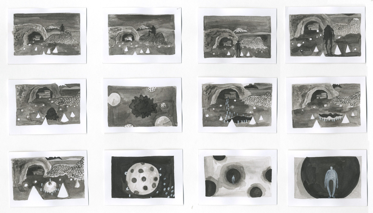 The story board that became the animation.