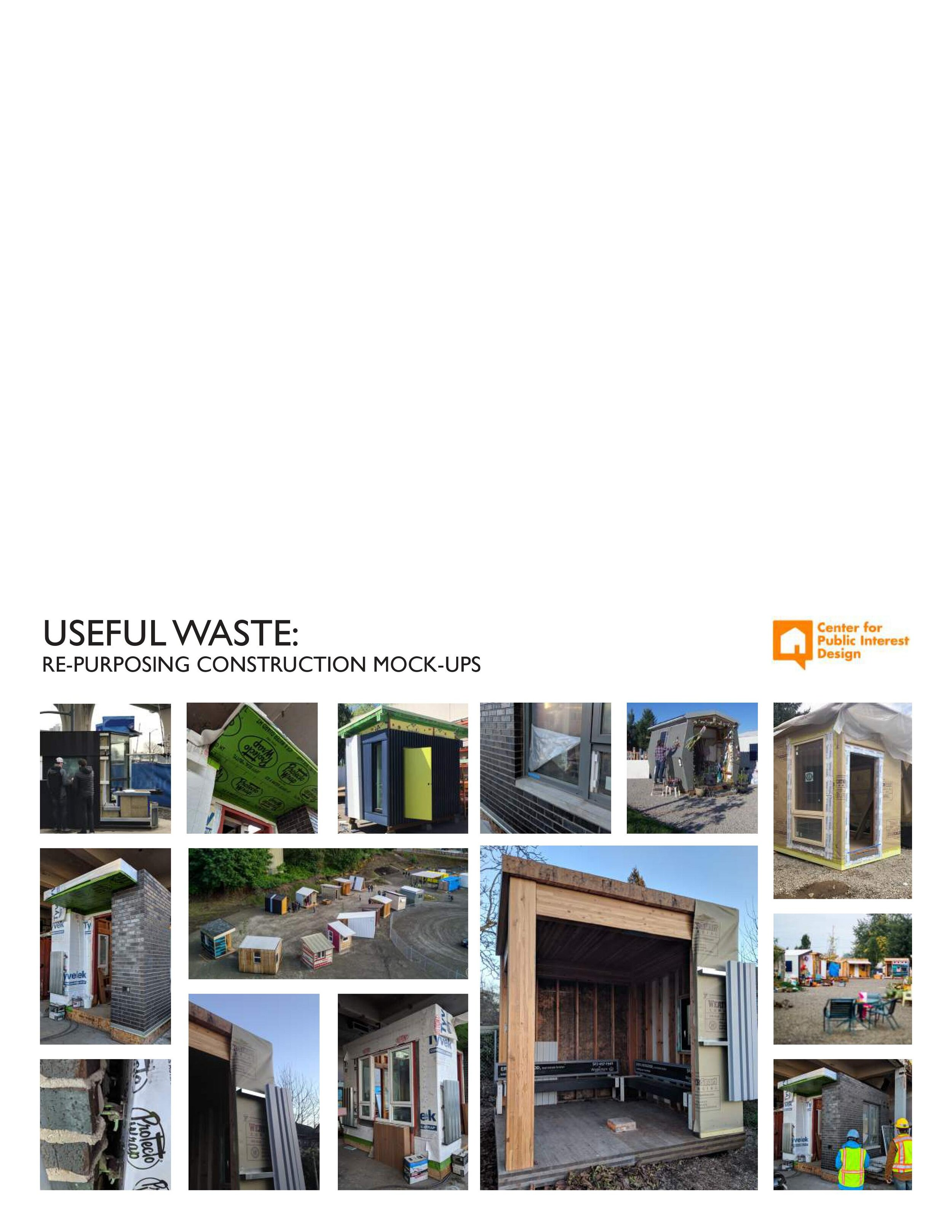 USEFUL WASTE GUIDEBOOK - RE-PURPOSING CONSTRUCTION MOCK-UPS