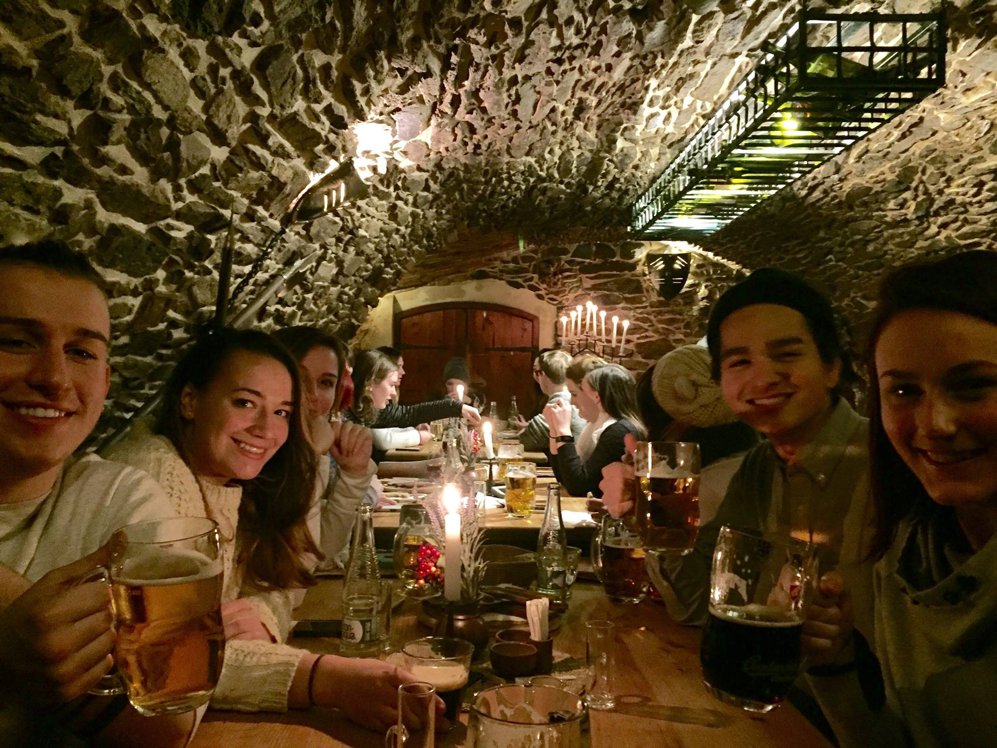 Here we are eating at the Medieval Restaurant. The meal basically consisted of every type of meat, roasted over an open fire and it was absolutely delicious.