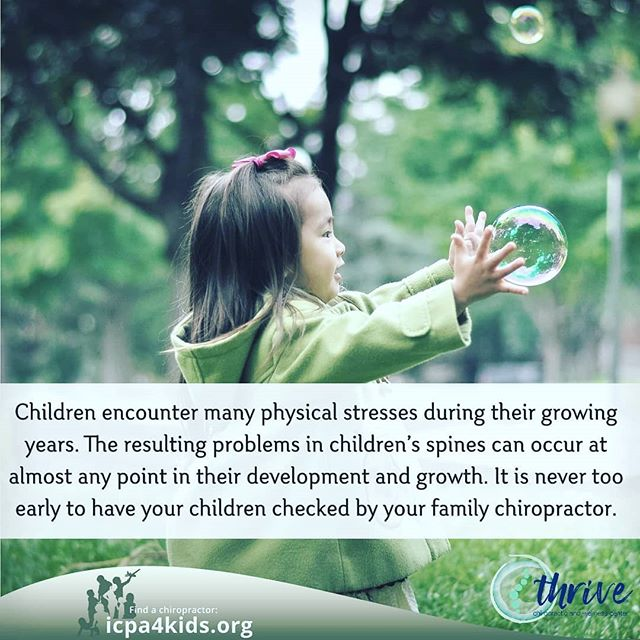 It is never to early....a small adjustment can make a BIG difference.  #thrivechirowellnes #chirokids #nevertooearly