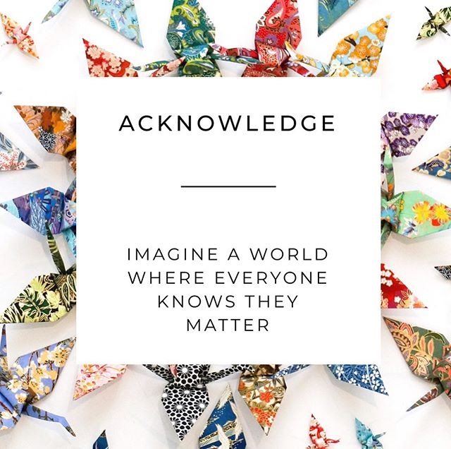 // ACKNOWLEDGE // Imagine living in a world where everyone new they mattered... Our acknowledgment collection was designed with this in mind.  However what doesn't matter is how big the gesture is, maybe someone in your world just needs to hear this today.  YOU MATTER.... pass it on ❤️