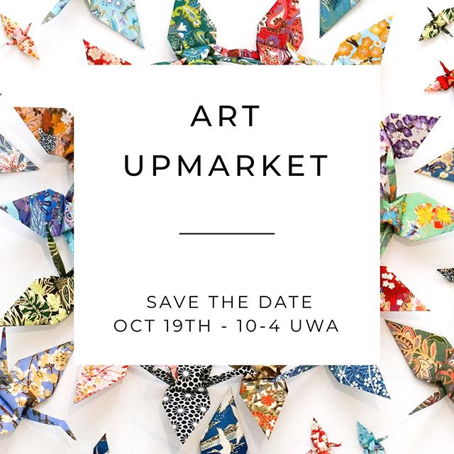 // SAVE THE DATE // Perth @artupmarket is on again. Saturday October 19th @universitywa 10am - 4pm  We will be in great company with 60 extraordinary Perth artists. A great opportunity to fill your home with local art.  Mel x
