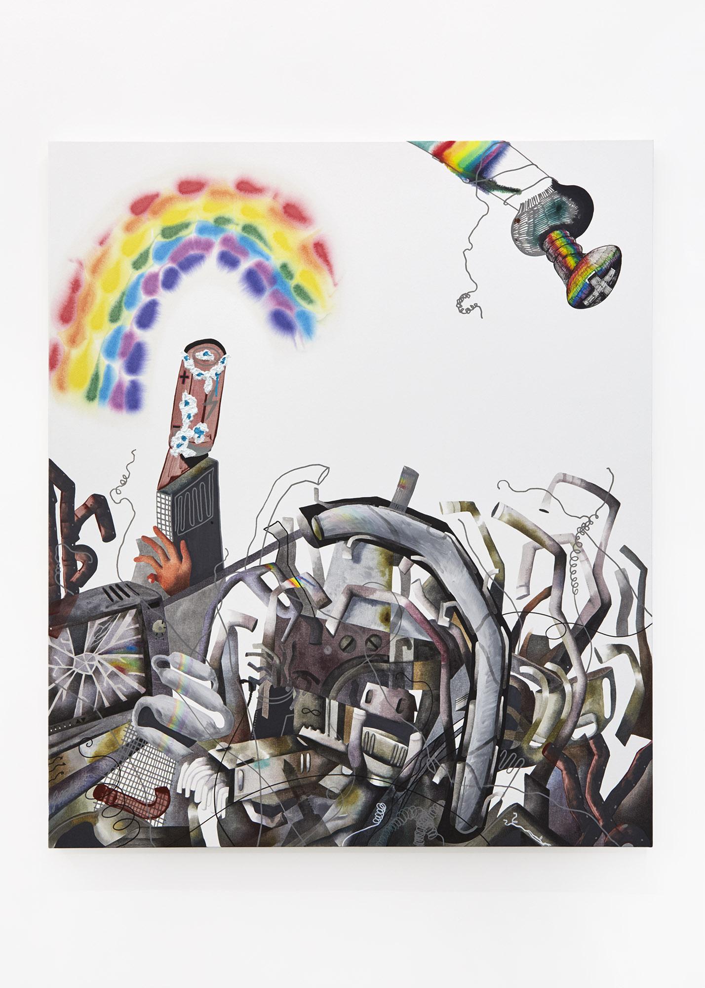 Waste Acrylic on canvas 140 x 120cm, 2018