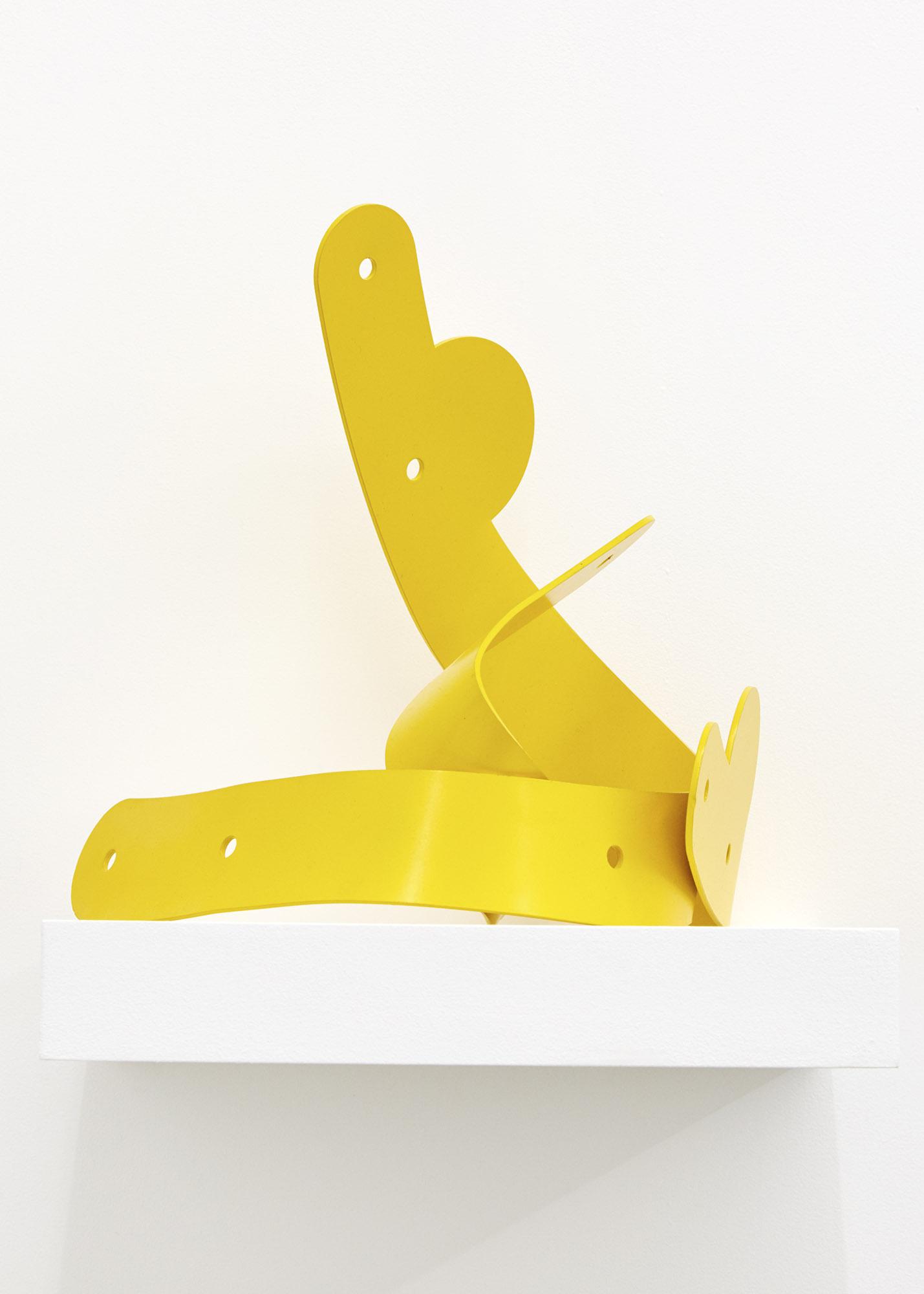 Yellow Trophy Lasercut and powder coated aluminium 30 x 40 x 30cm, 2019