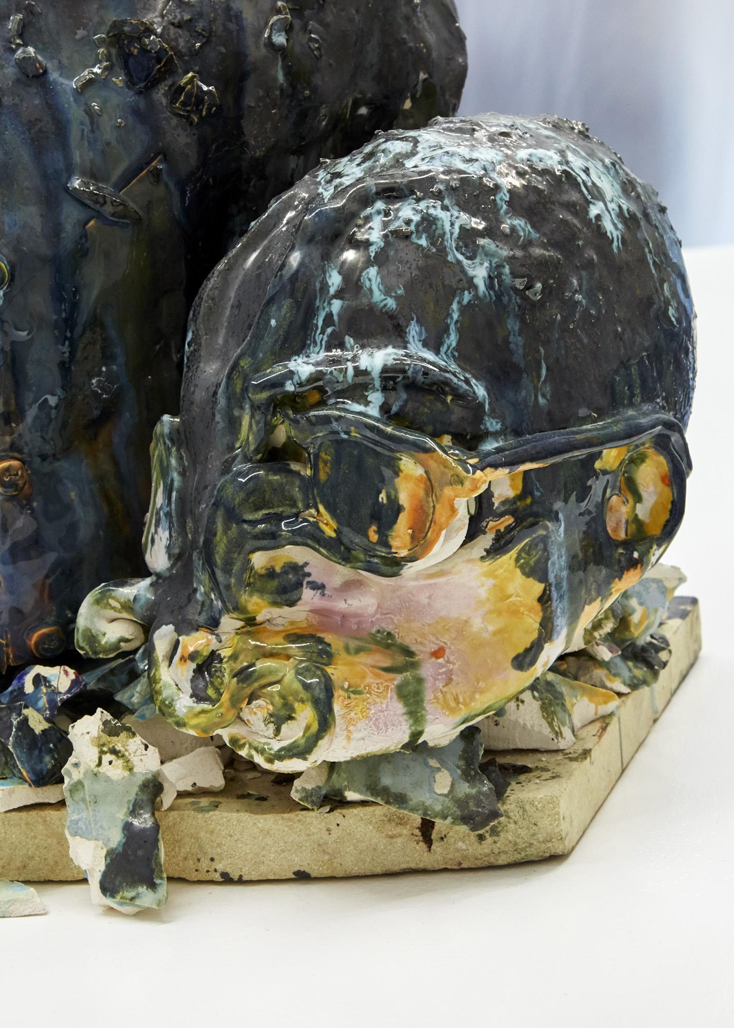 It is what it is Glazed ceramic, kiln shelf 44 x 52 x 33cm, 2019