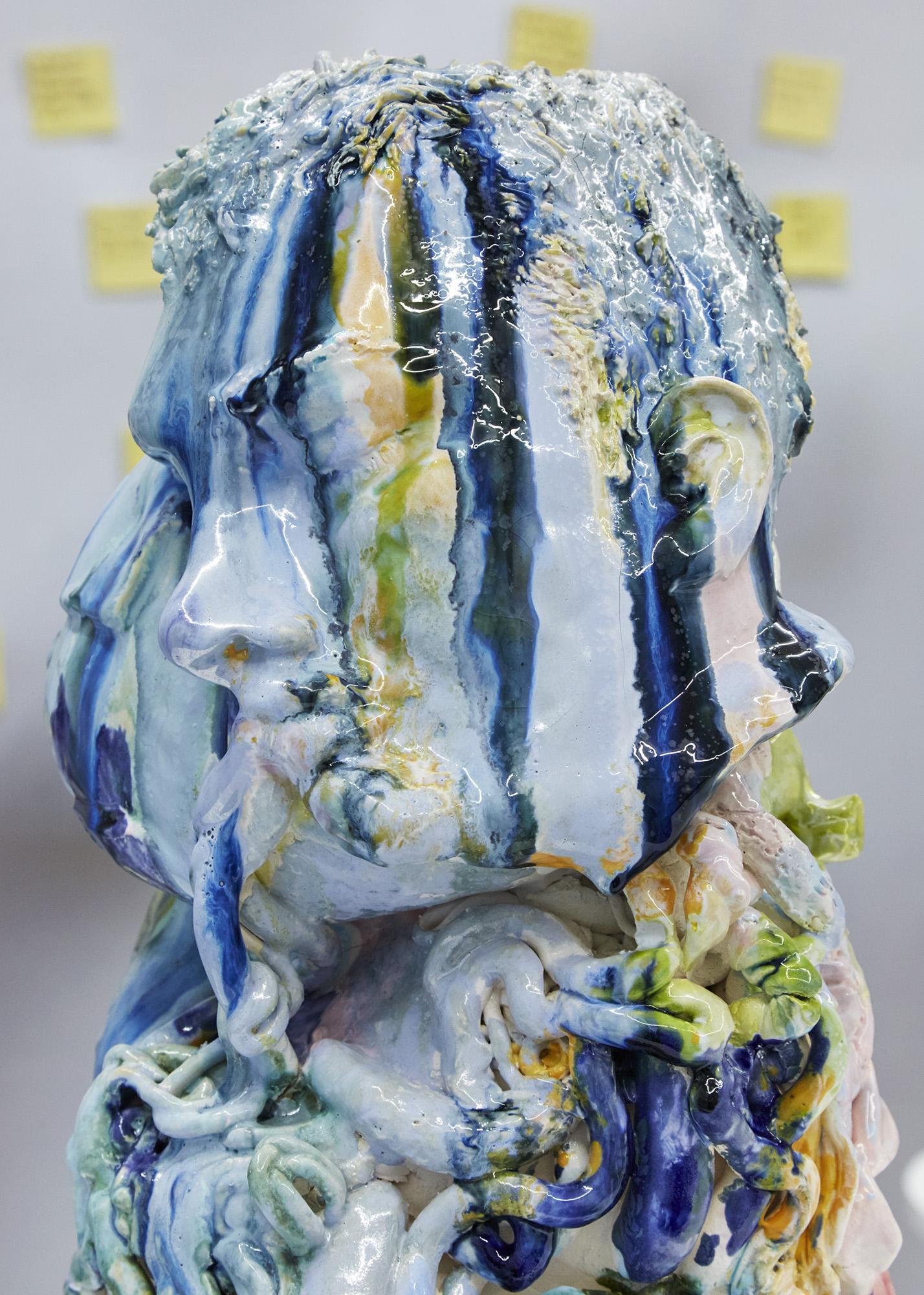 Nos da Sausage (detail) Glazed ceramic 63 x 34 x 31cm, 2019