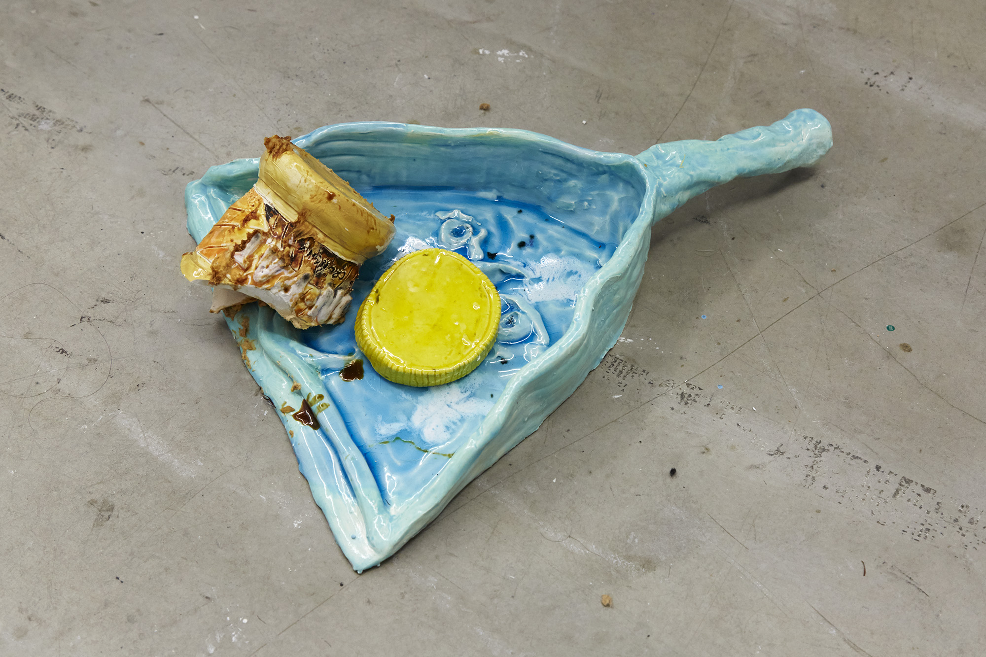 You'll have to pay for that Ceramic dust pan, broken ceramic Marmite and Peanut Butter Pots 5 x 38 x 31cm (pan) + dimensions variable, 2019