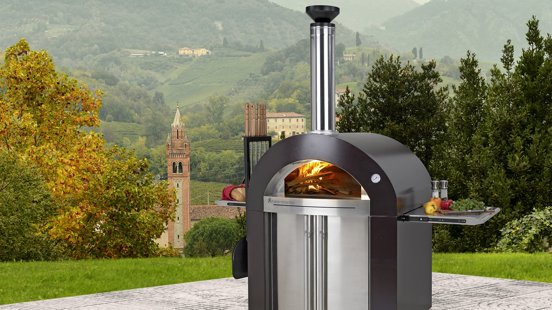 Master the artistry of Italian Cuisine   Experience the renaissance of time-honored, old-world, family oriented dining.  From seafood, to grilled steaks…from baking to roasting…to simply enjoying a real wood fire.   — Experience Cooking in a Wood Fire Oven —