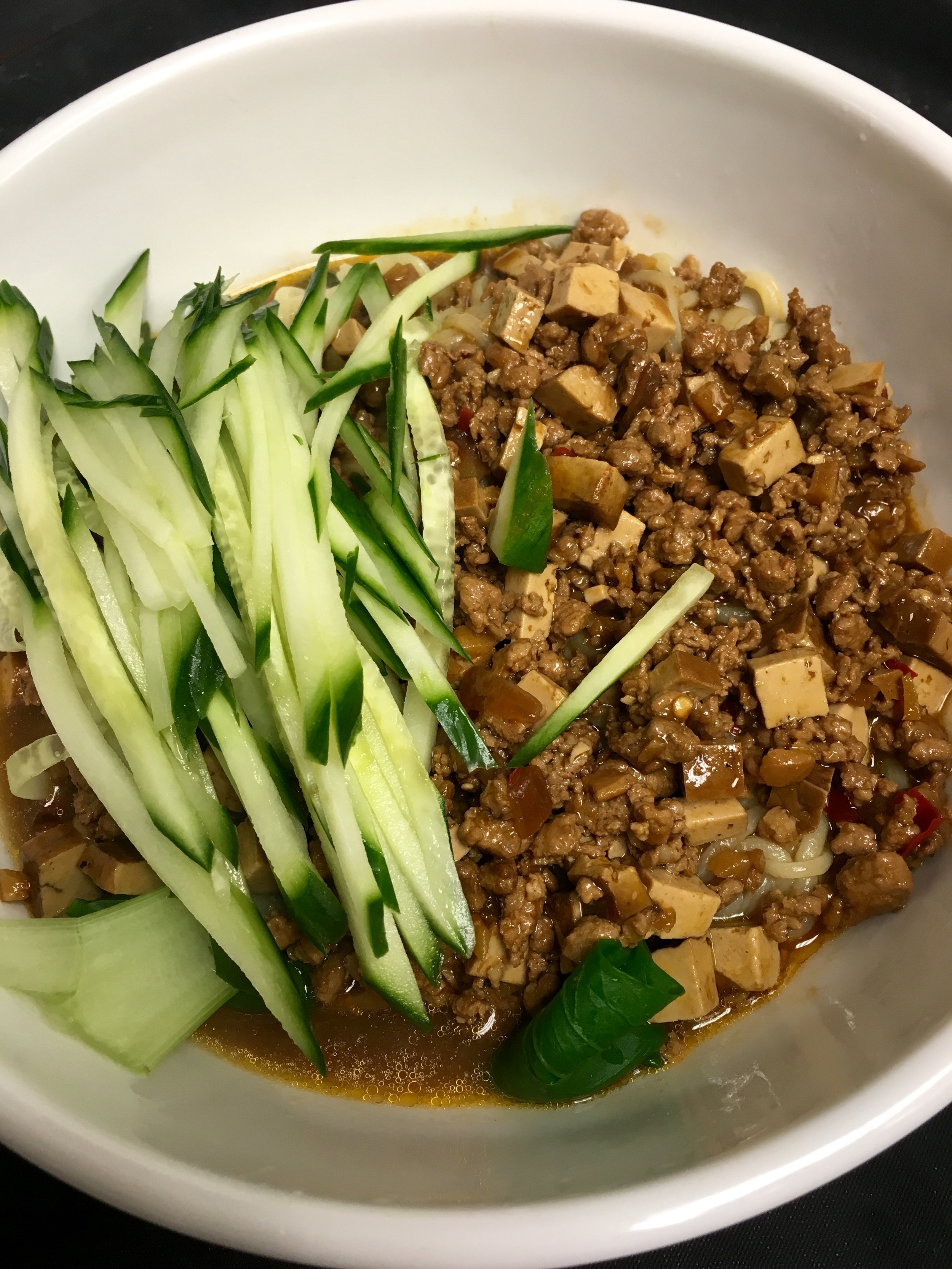Fried Bean & Meat Sauce Noodle