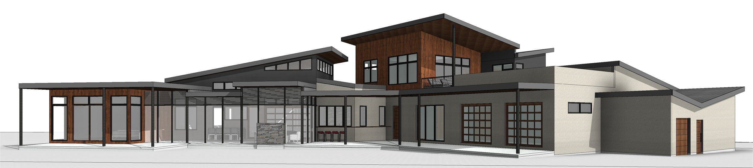 Schreiber Residence - Material Studies 3 - 3D View - REAR PERSPECTIVE 2.jpg