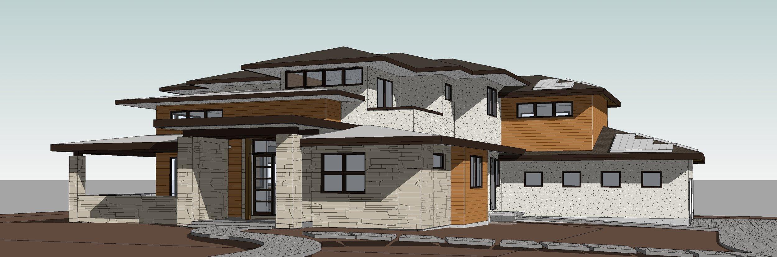 Crouse-Paulson Residence3 - 3D View - GARAGE SIDE.jpg