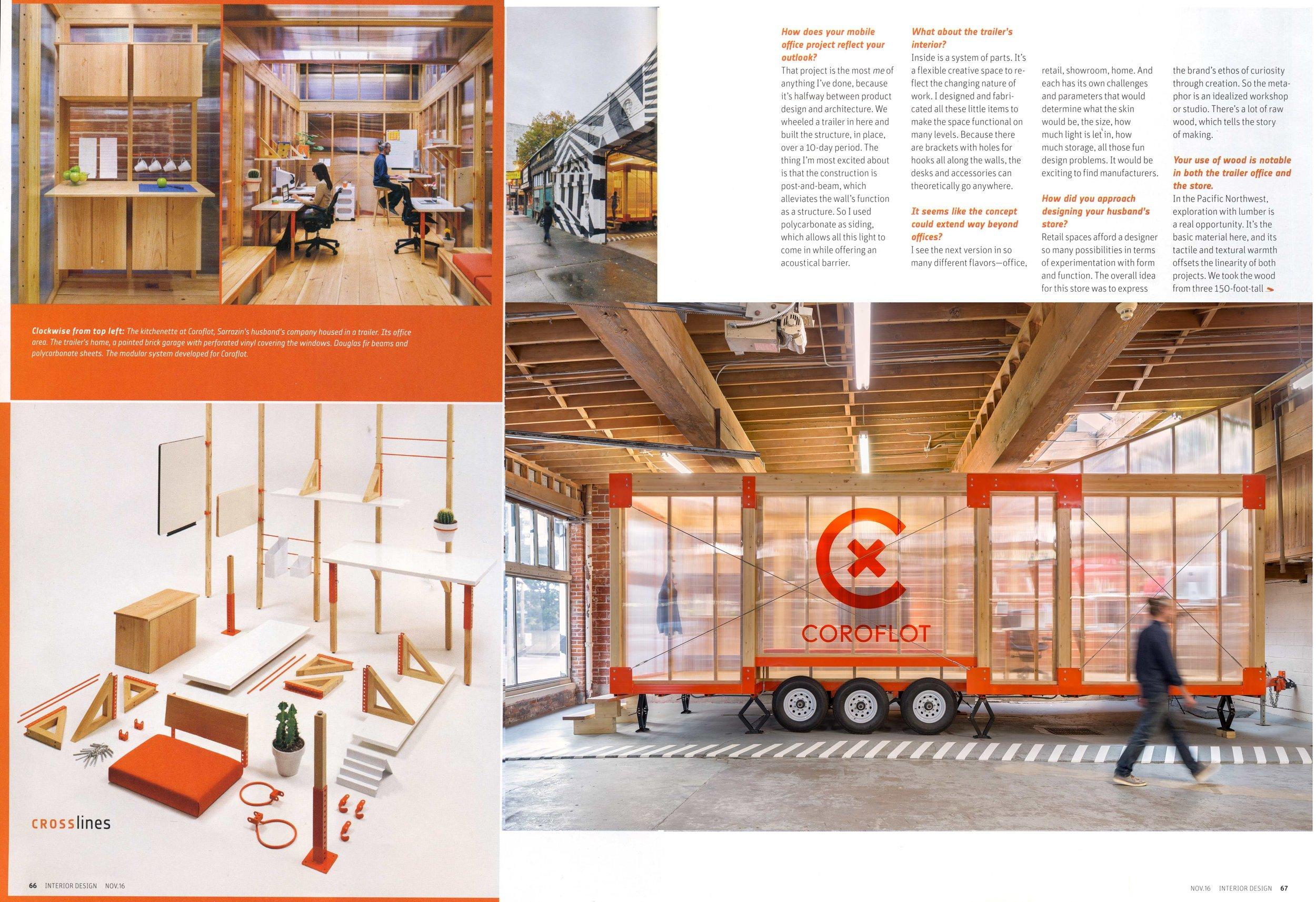 Laurence Sarrazin Takes Her Multidisciplinary Approach to Portland  – Interior Design Magazine, 2016