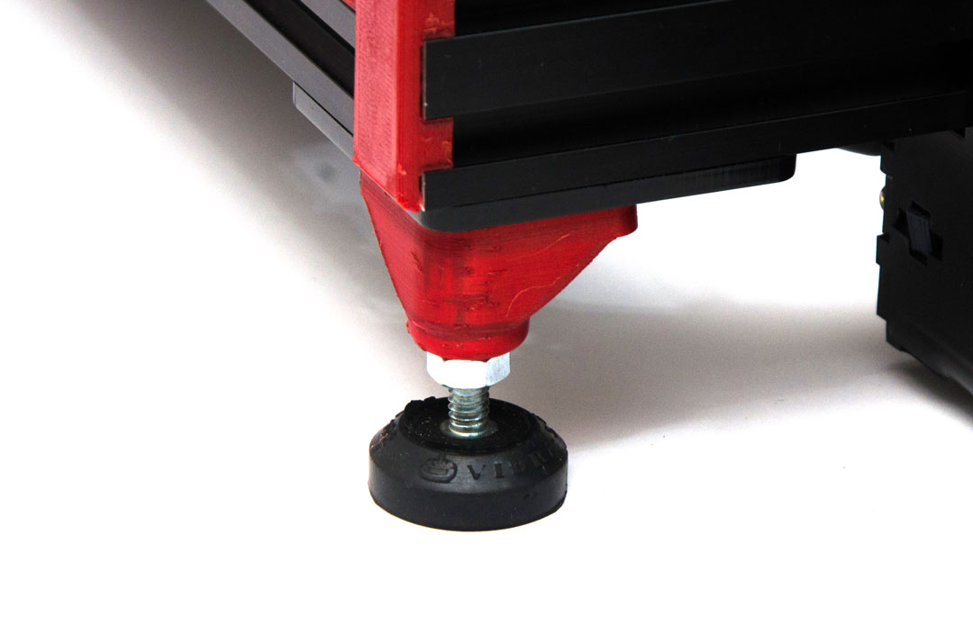 Sistema VibraStop - Pés amortecidos com borracha, reduzindo a vibração da impressora, consequentemente melhorando o resultado final das impressões e deixando a máquina mais silenciosa.