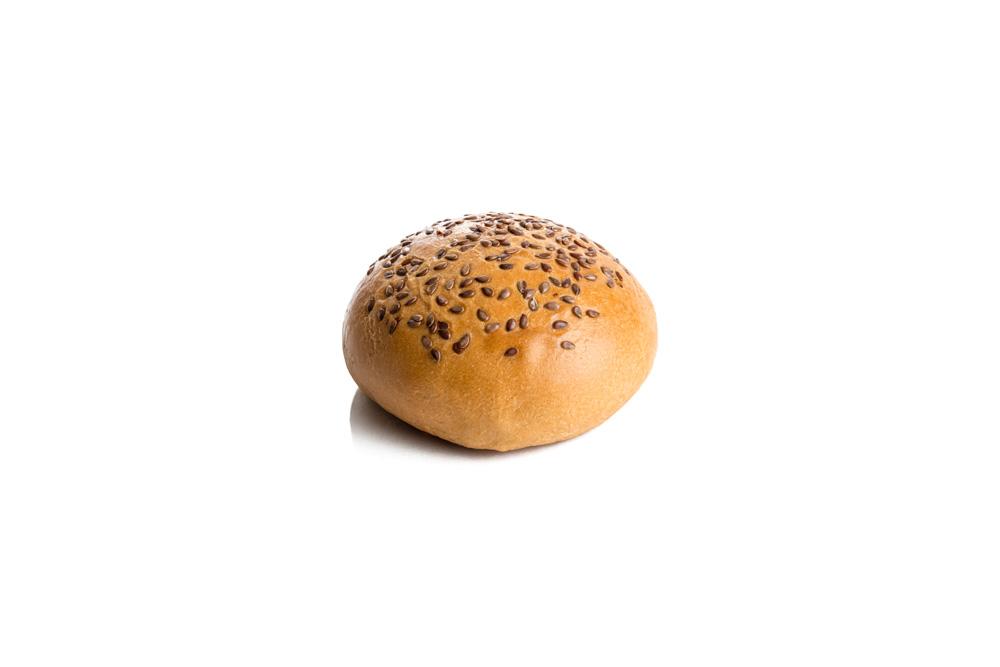 Brioche Burger Bun with Flax Seed (sliced)