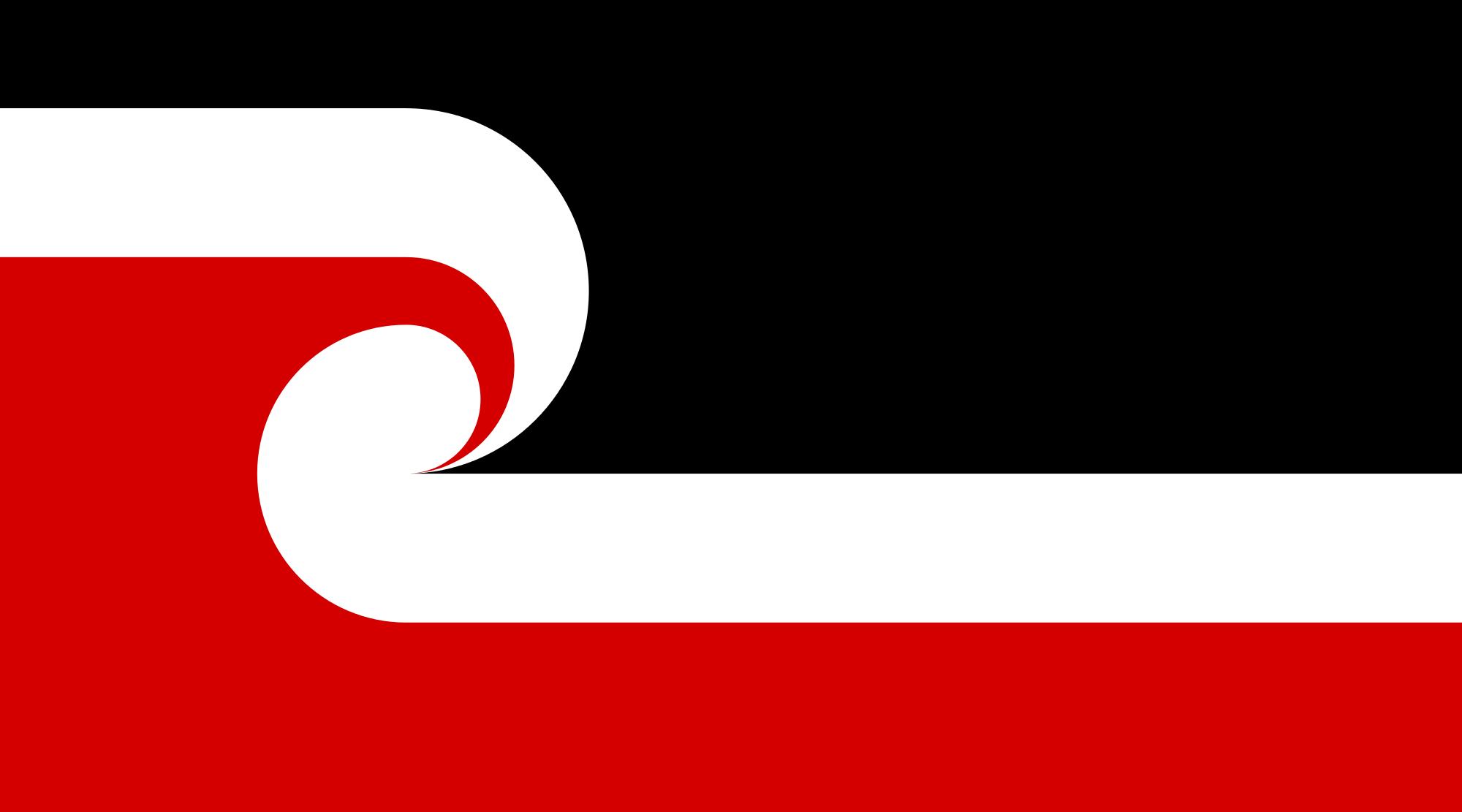 Le drapeau représentant les communautés Maori, le  Tino rangatiratanga