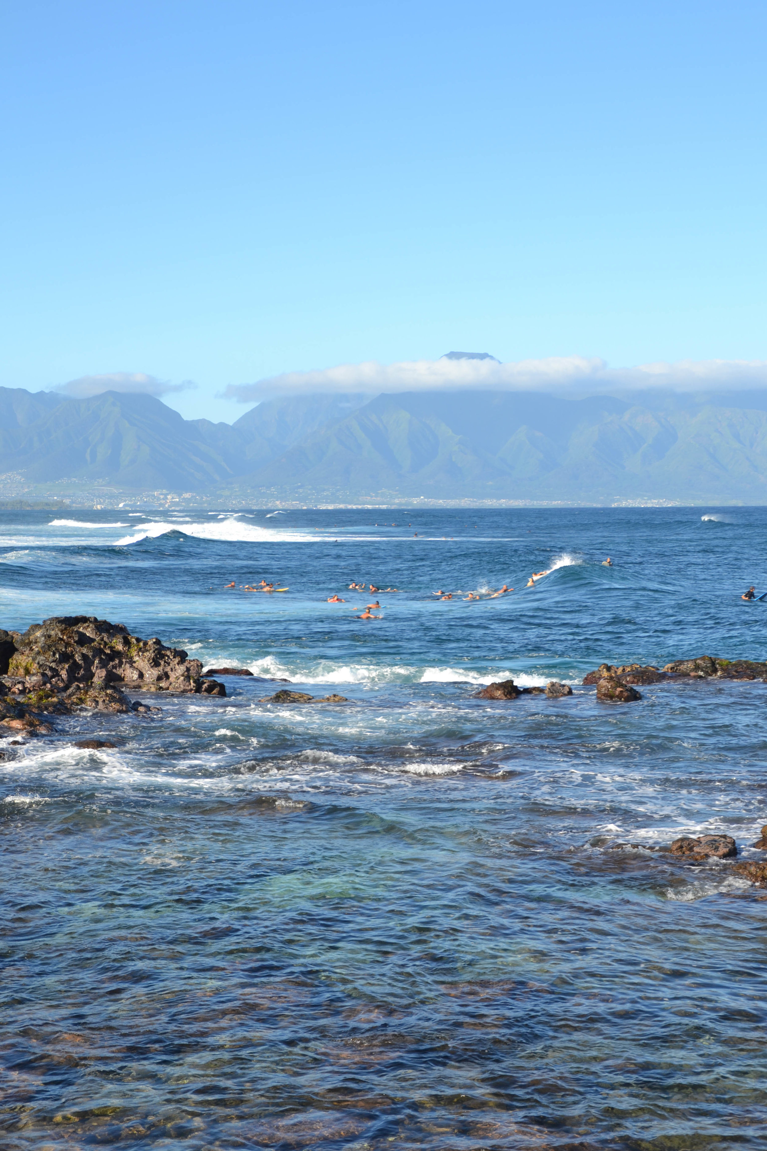Ho'okipa Beach, overlooking the western side of Maui.