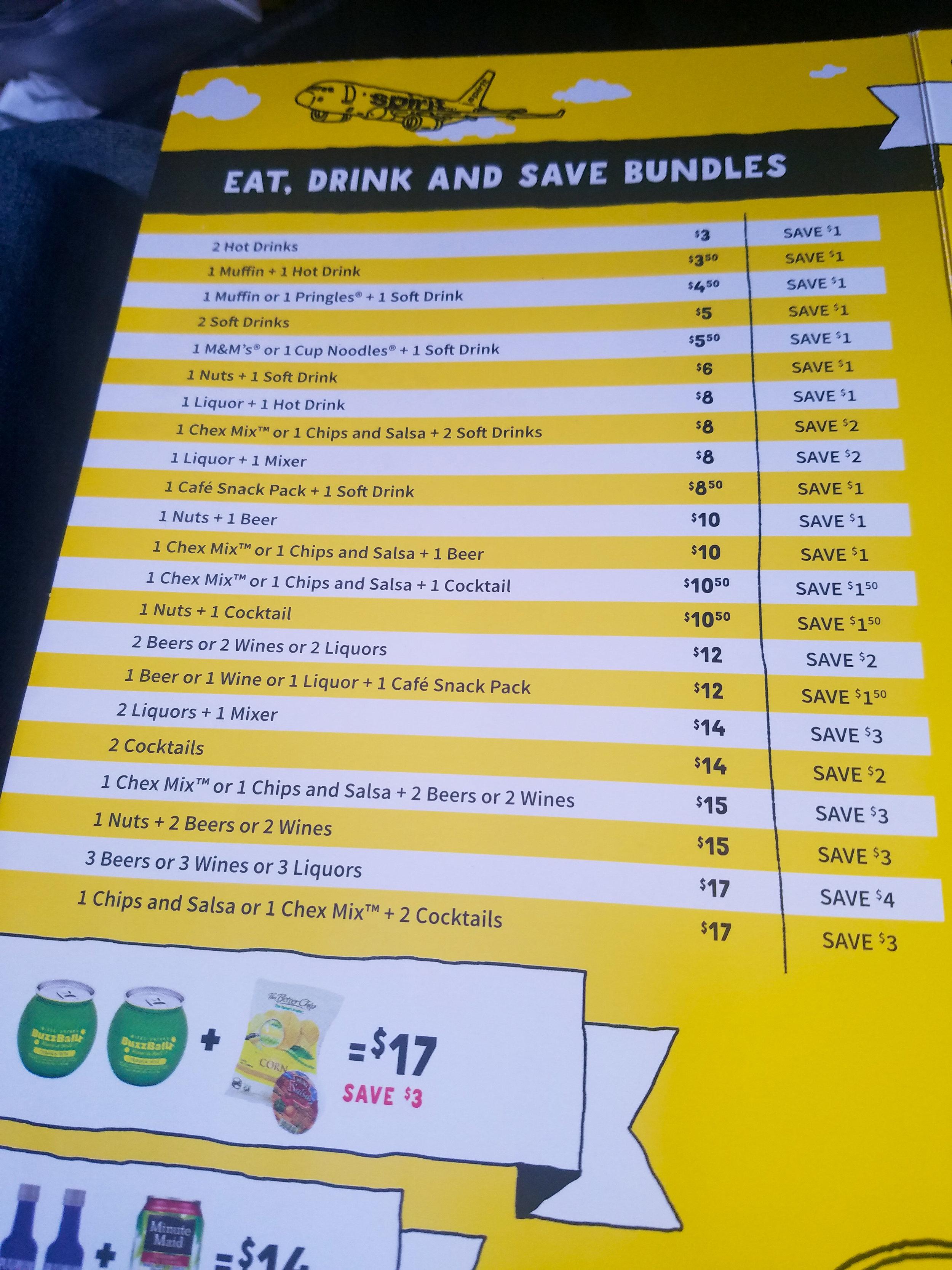 spirit-airlines-snack-beverages-prices