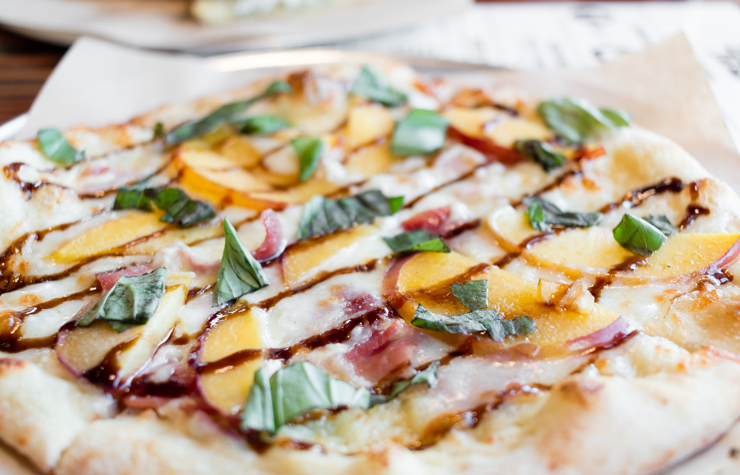 Peach Prosciutto Pizza