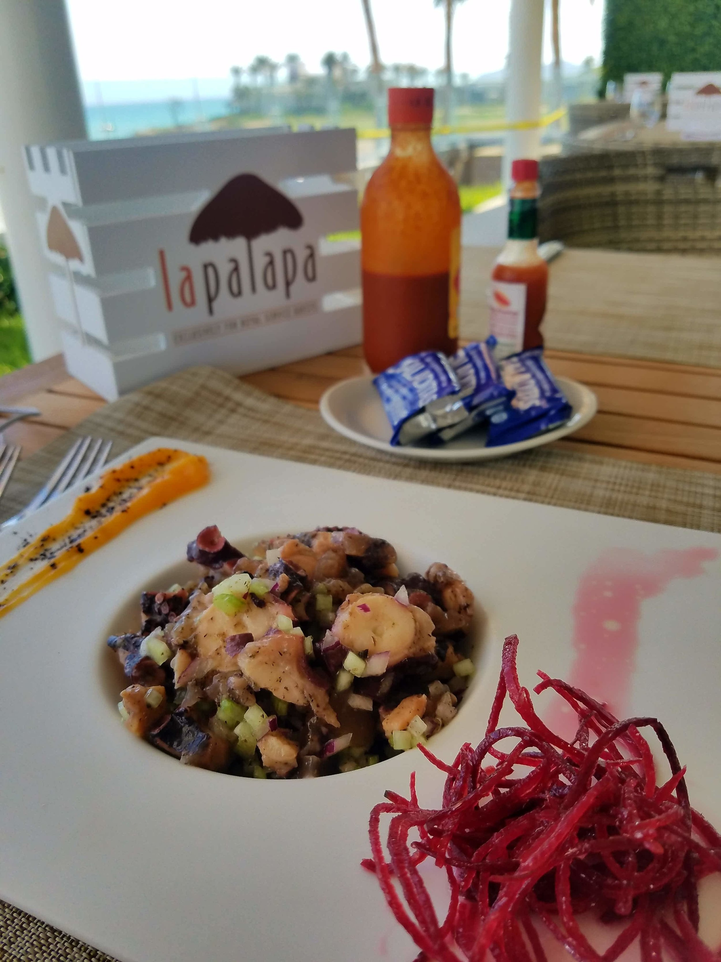 Octopus Ceviche at La Palapa