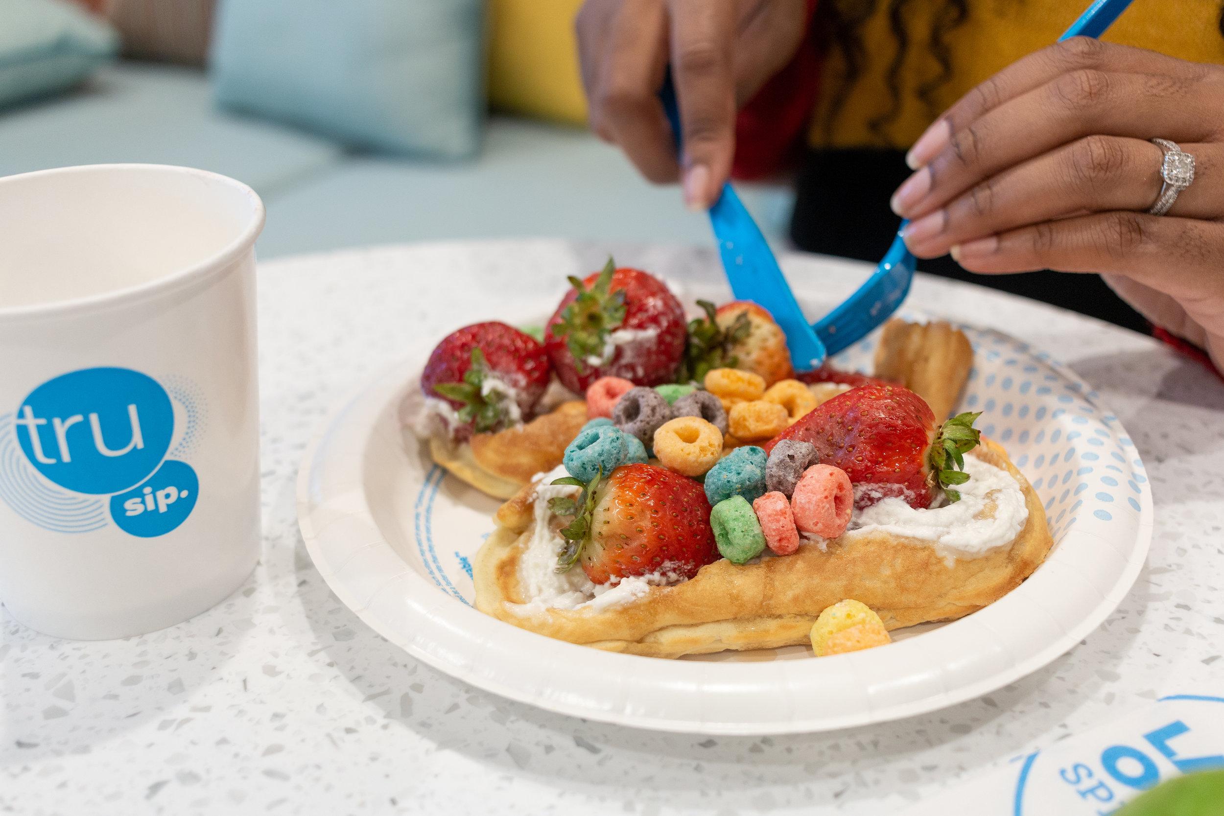 Shasha's Strawberry Waffle Boat