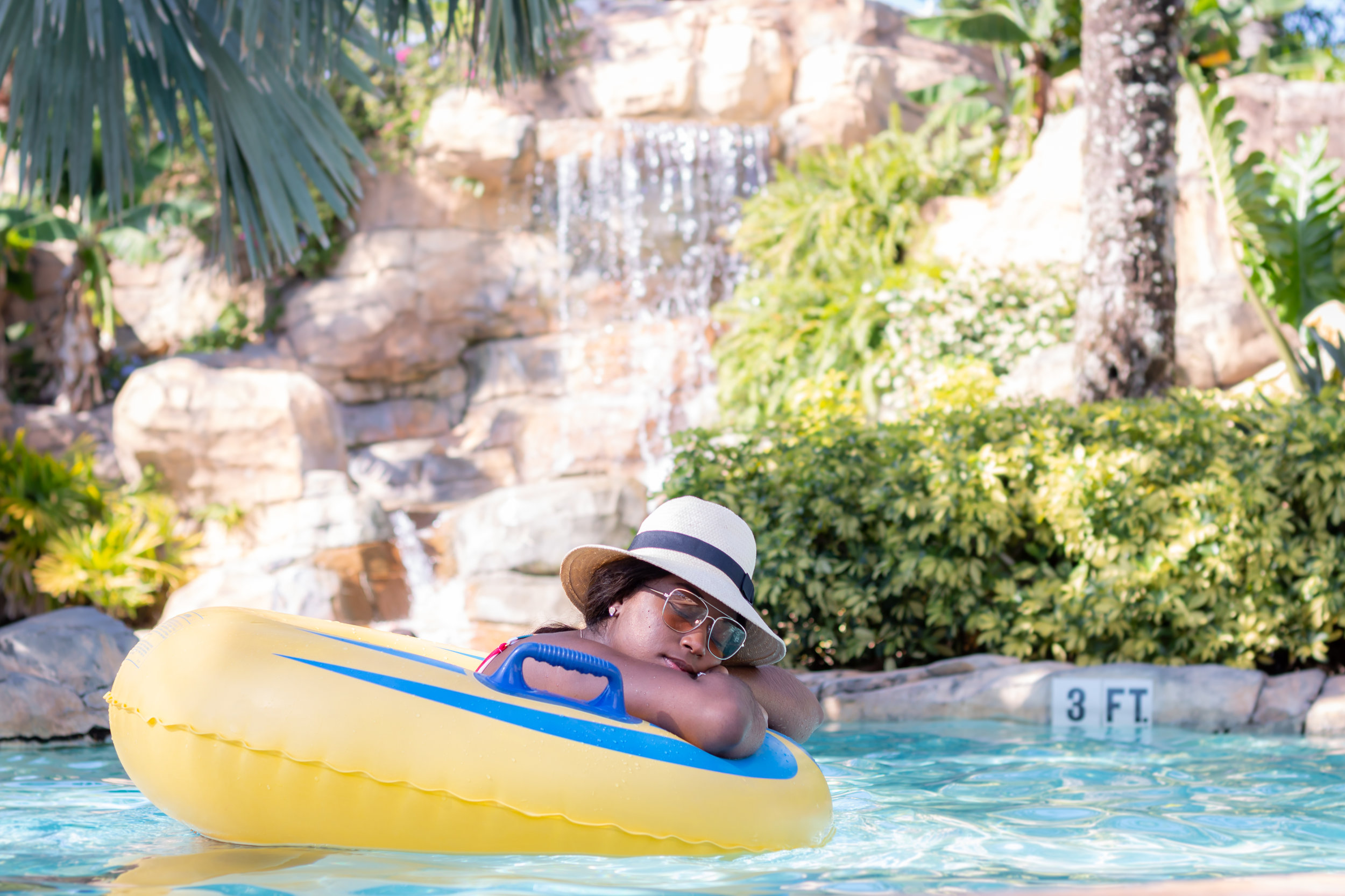 Being lazy on the lazy river
