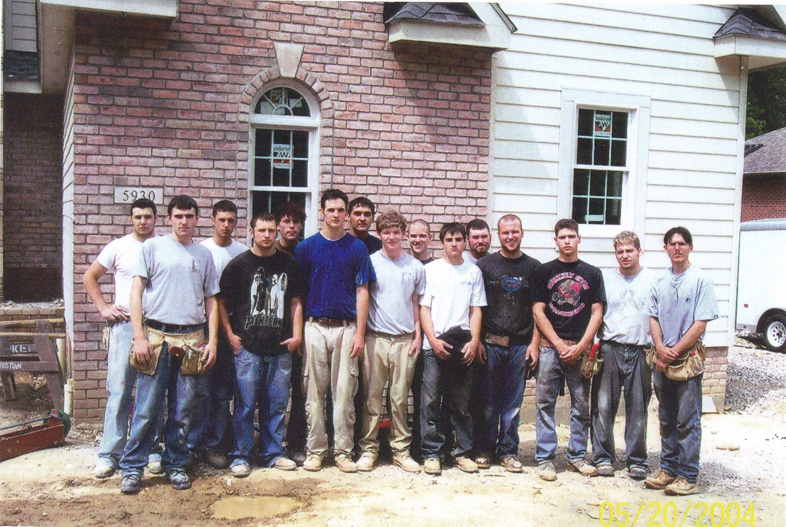 Parma High Vocational Carpentry class of 2004