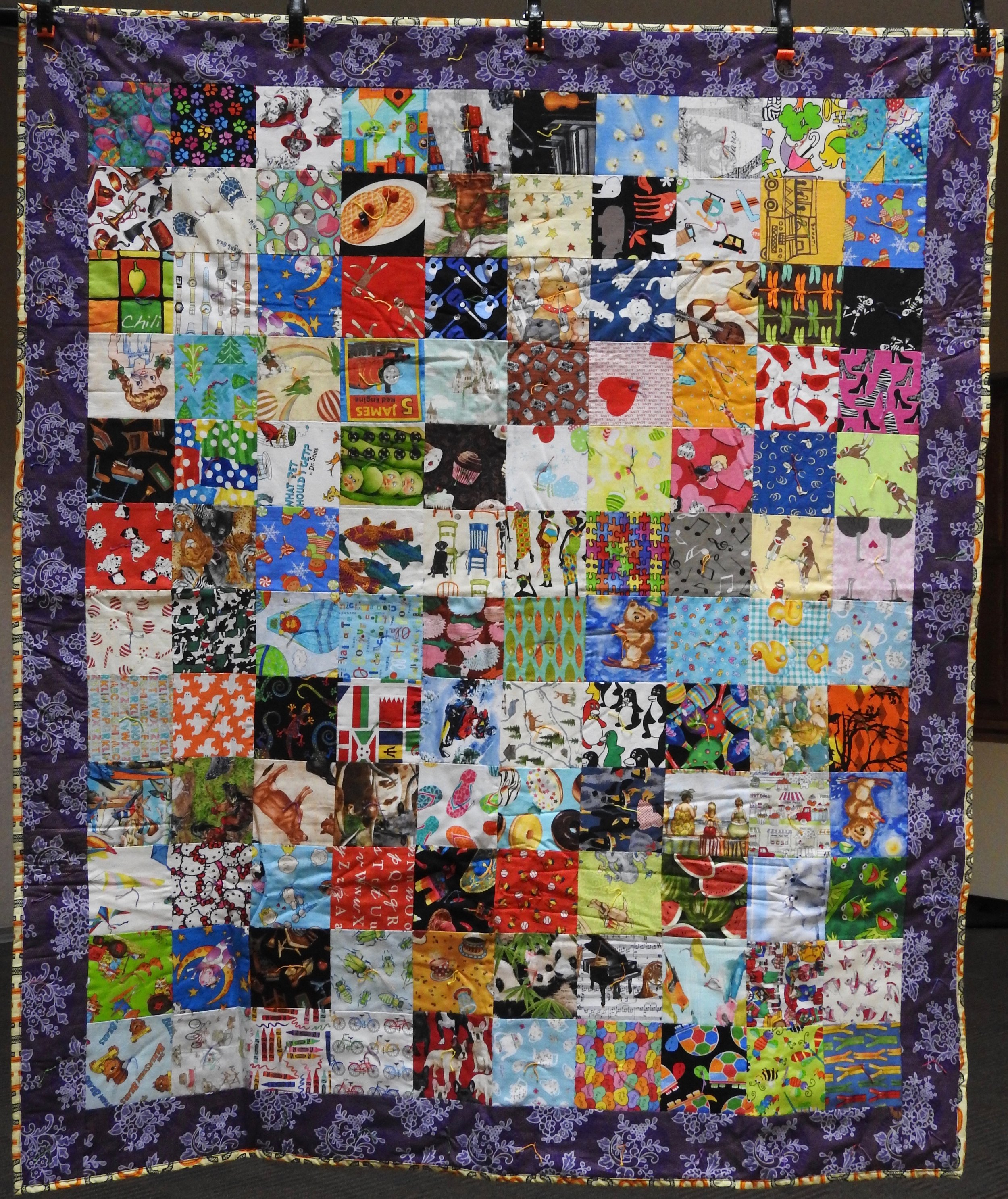 I Spy Comforter, Pieced & Knotted, donated Anonymously, 51 x 62""