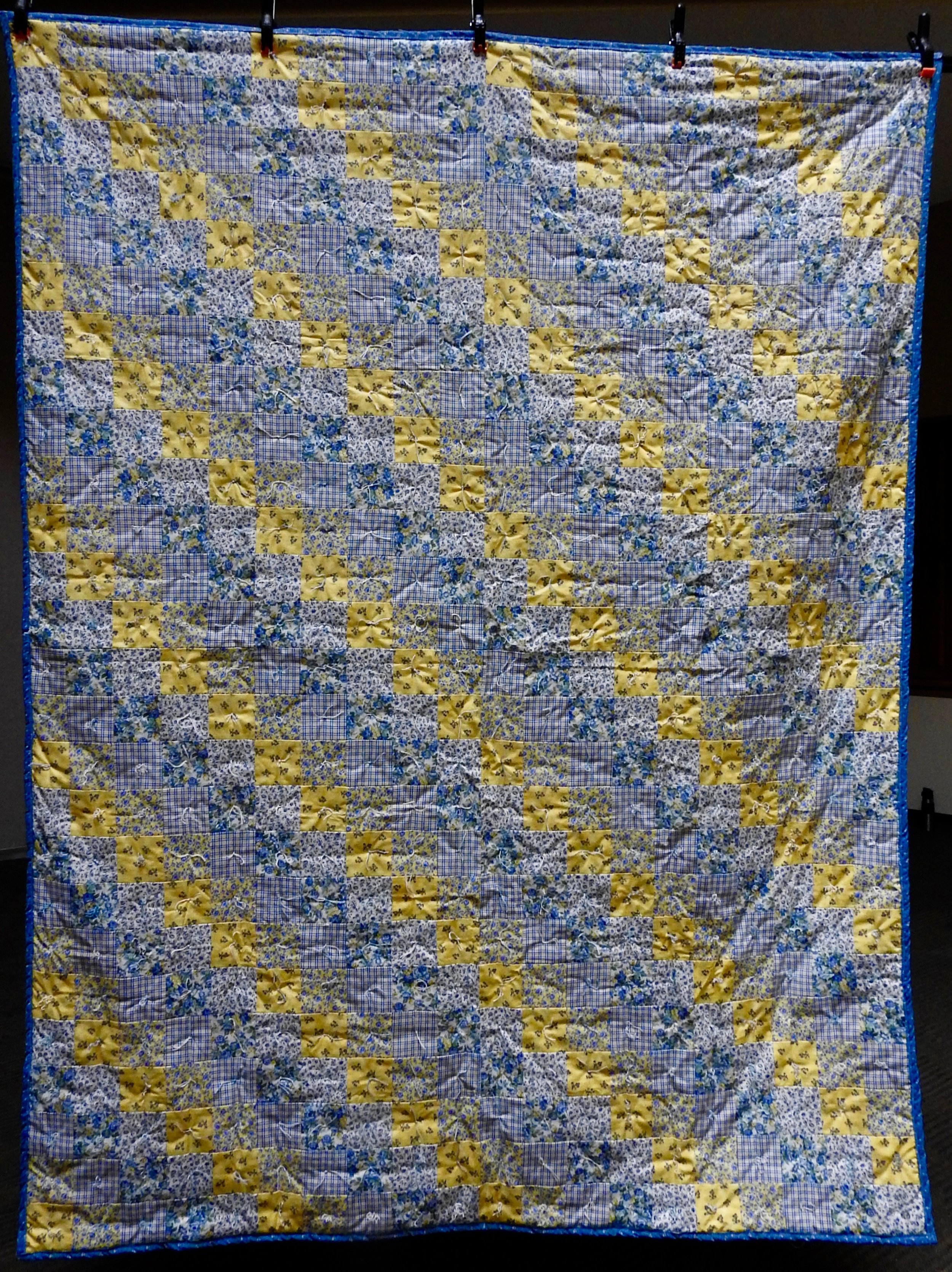Sunshine Morning Comforter, Piece & Knotted, The Depot Quilt Room, 64 x 84""