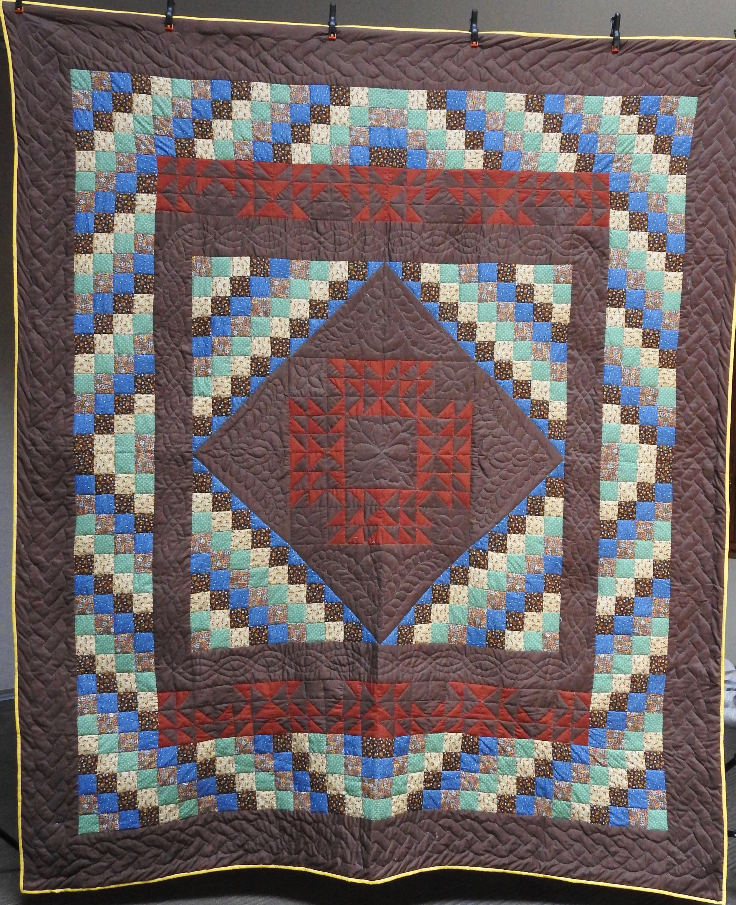 Patchwork, Pieced, Hand Quilted, The Depot Quilt Room, 92 x 108""