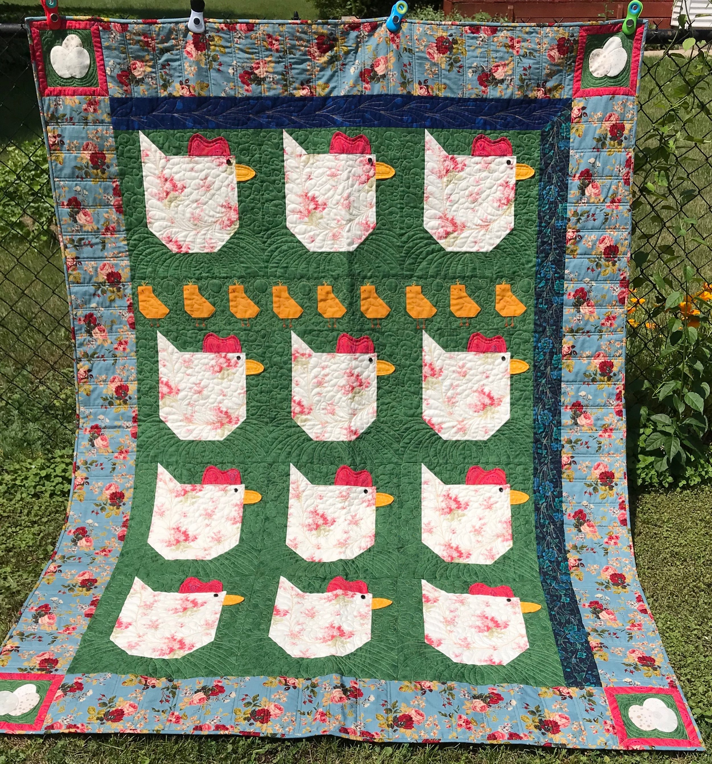 Working Women, Pieced, Appliquéd, Embroidered, Custom Machine Quilted, donated by Char Taber, 60 x 78""