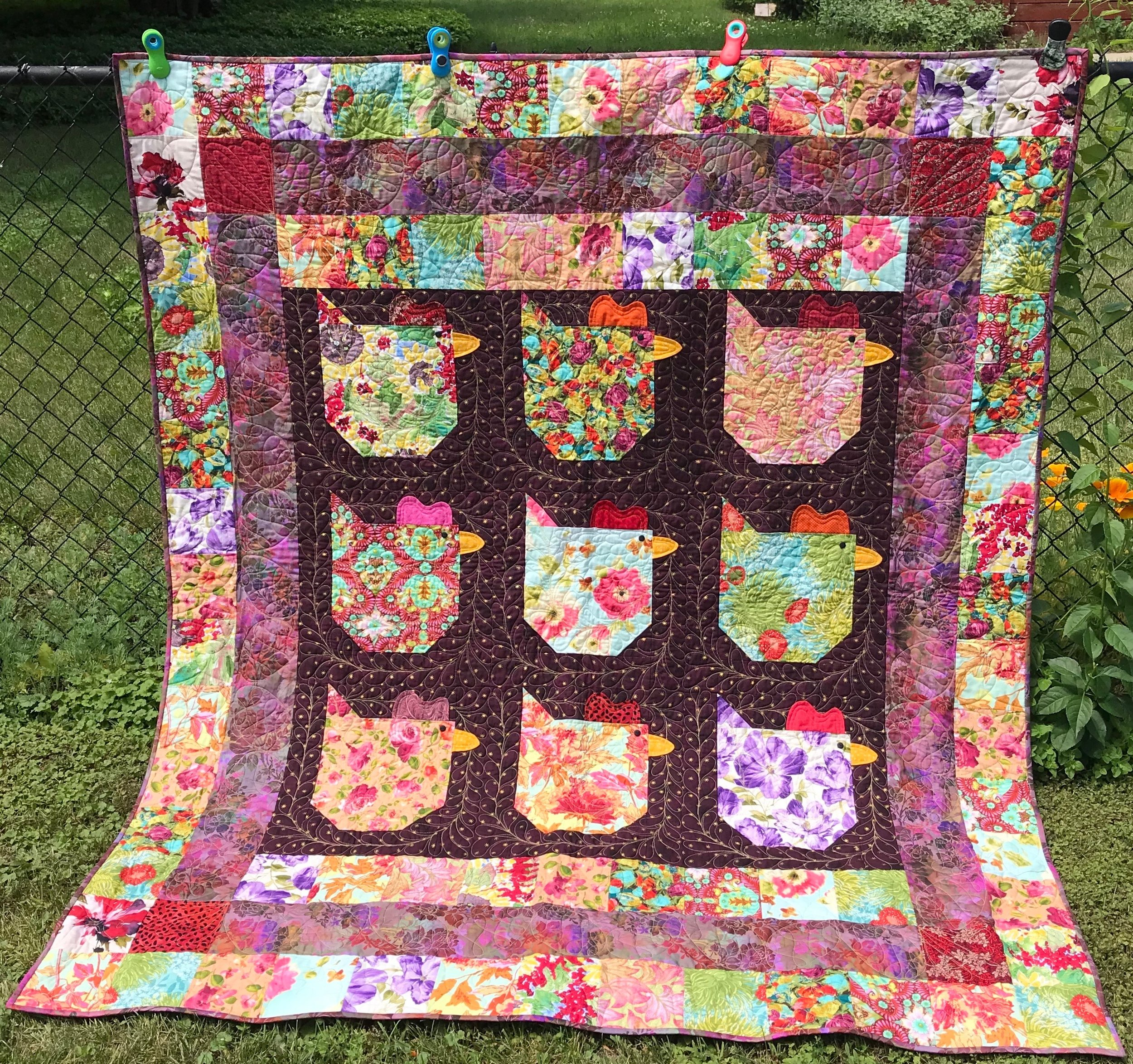 Ladies' Night Out, Pieced, Custom Machine Quilted, donated by Char Taber, 63 x 73""
