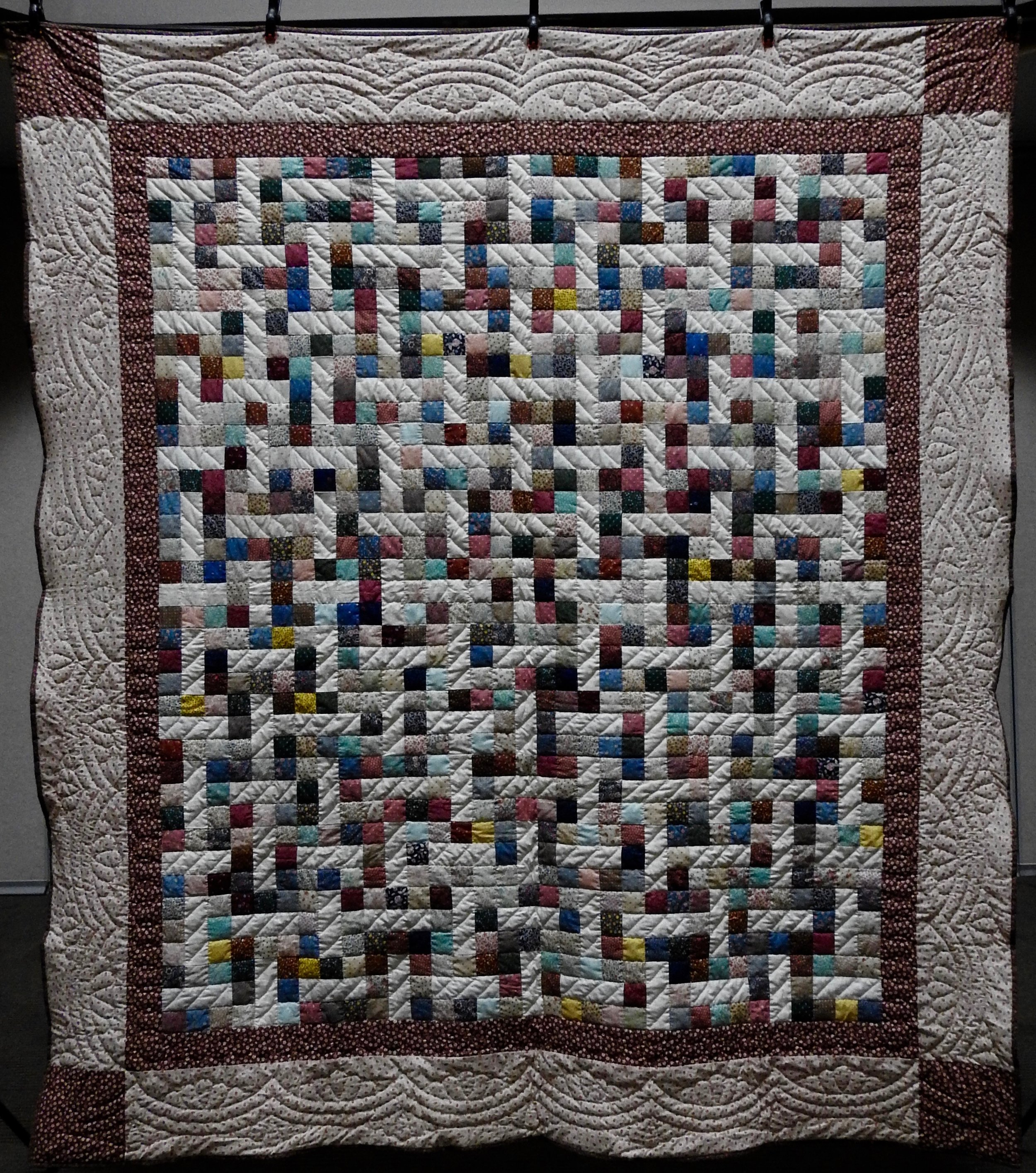Streets & Avenues, Pieced, Hand Quilted by Evergreen Place Quilters, donated anonymously, 83 x 96""