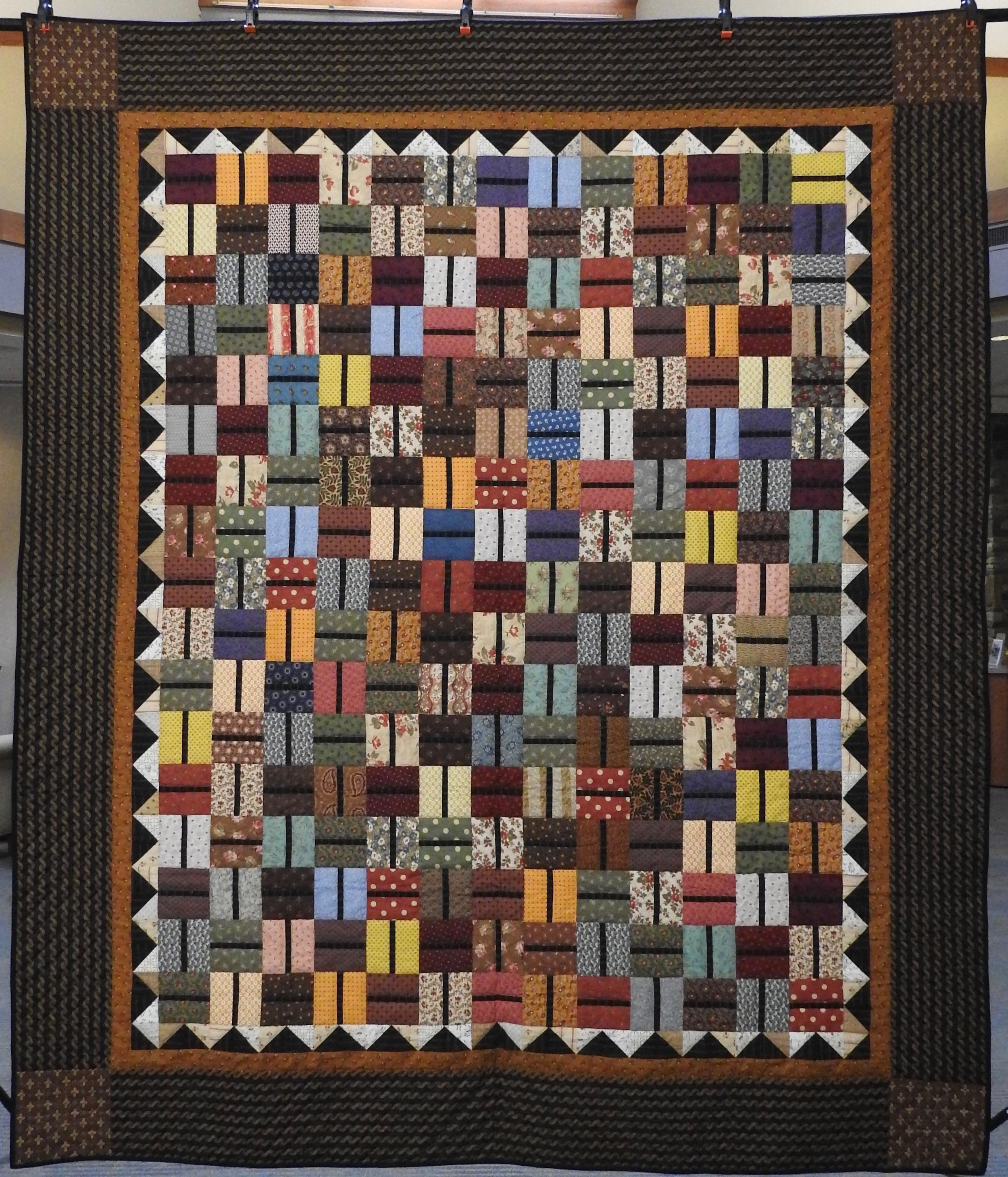 Autumn Fades into Winter, Pieced, Hand Quilted by Evergreen Place Quilters, donated anonymously, 82 x 98""