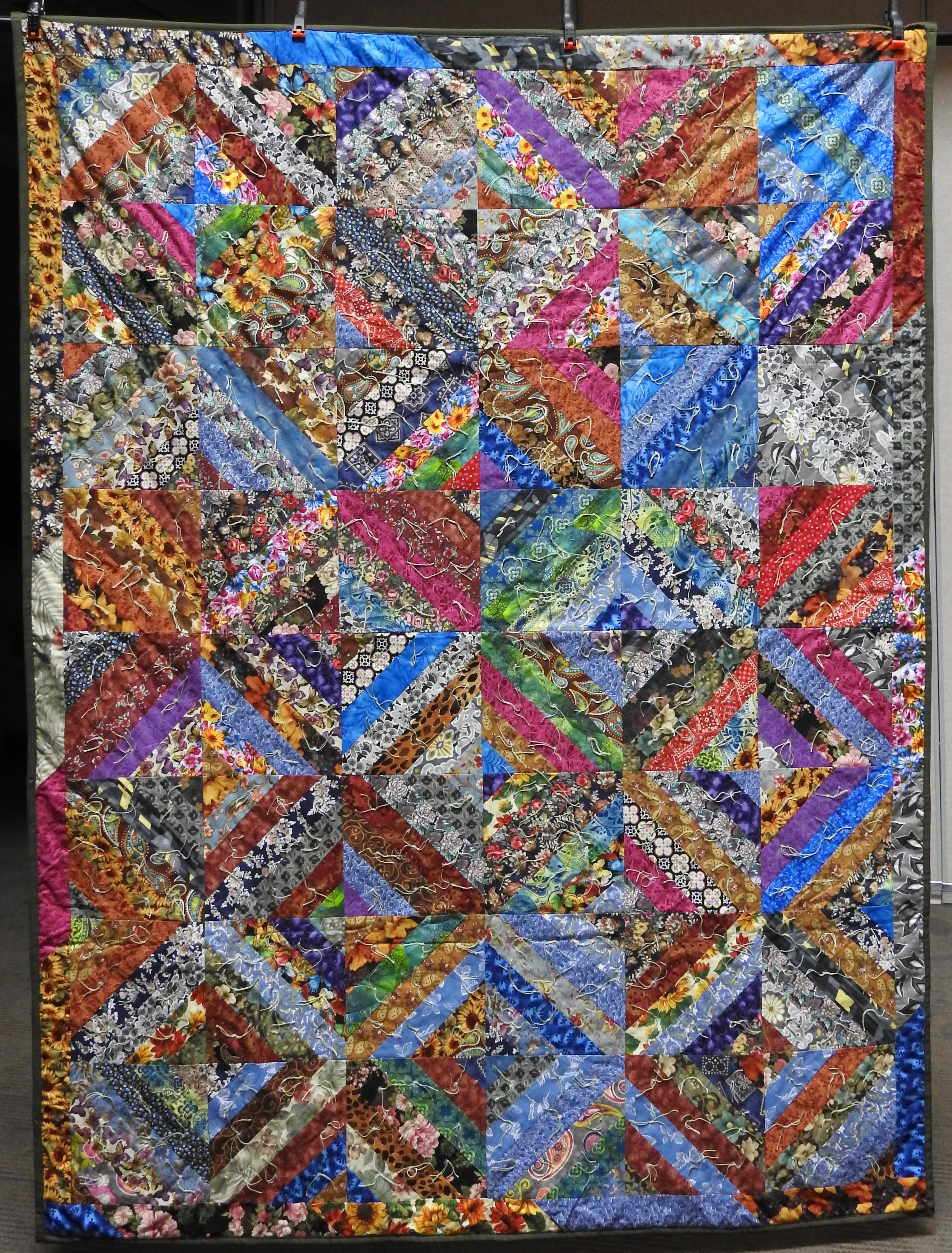 Anything Goes Comforter, Pieced & Knotted, Howard-Miami Mennonite Church, 60 x 80""