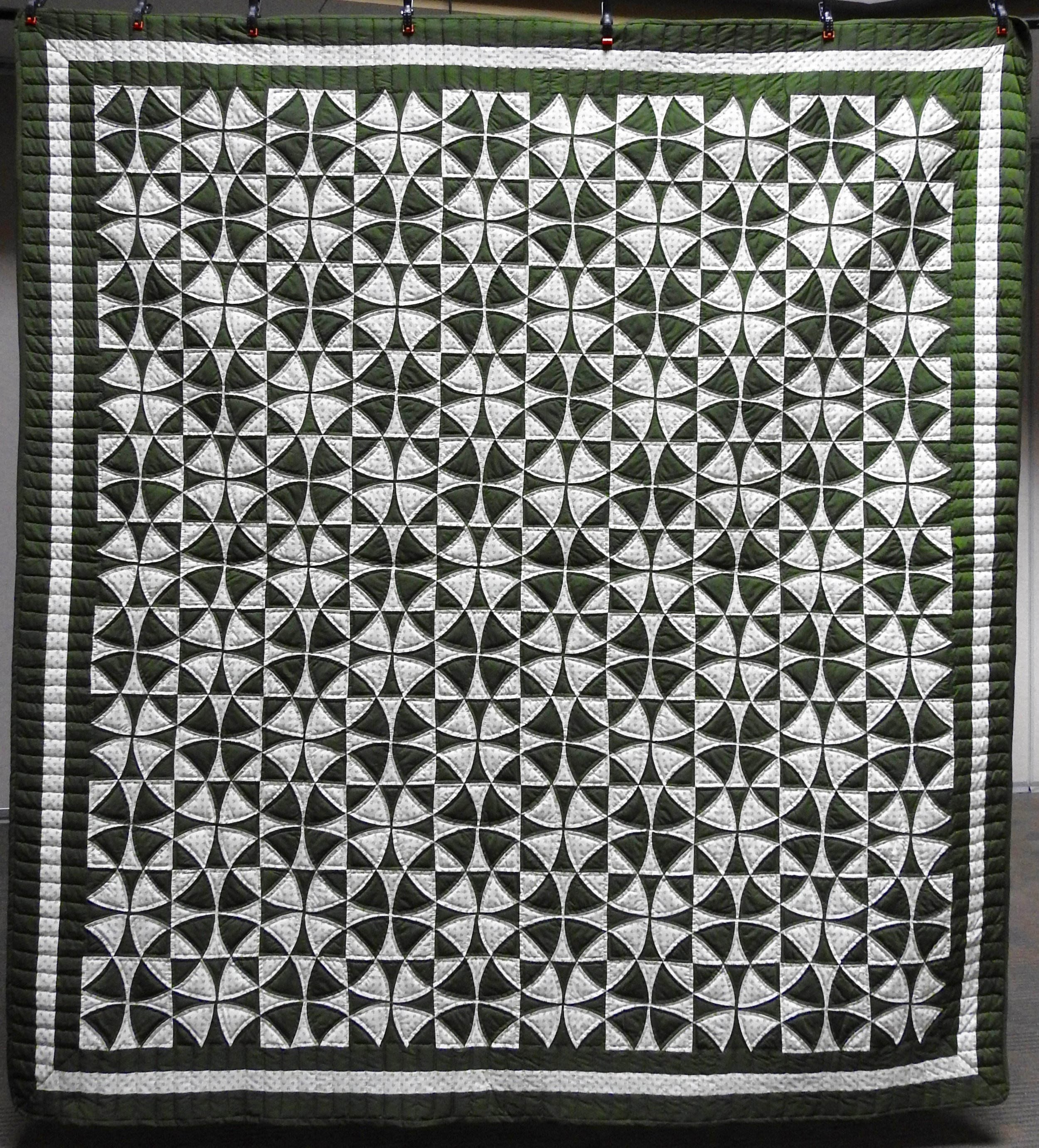 """Wheel of Fortune, Pieced, Hand Quilted, 92 x 100"""""""