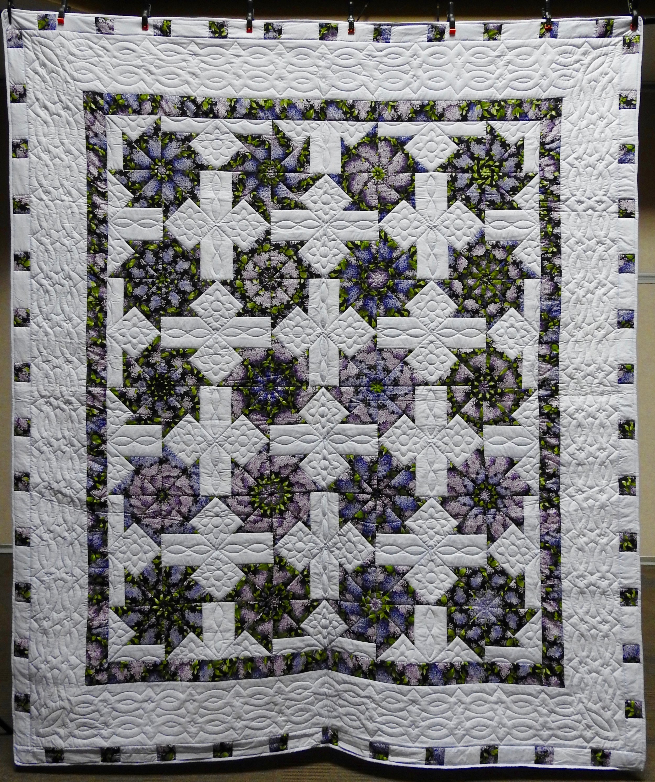 """Pinwheel Stack 'n' Whack, Pieced & Hand Quilted, 89 x 103"""""""