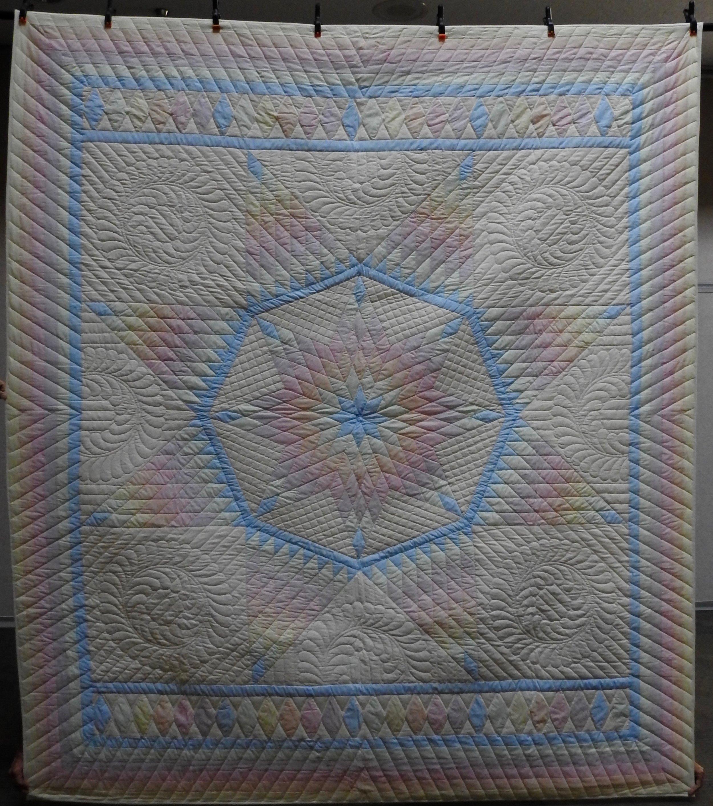 """Broken Star, Pieced & Hand Quilted, 90 x 104"""""""