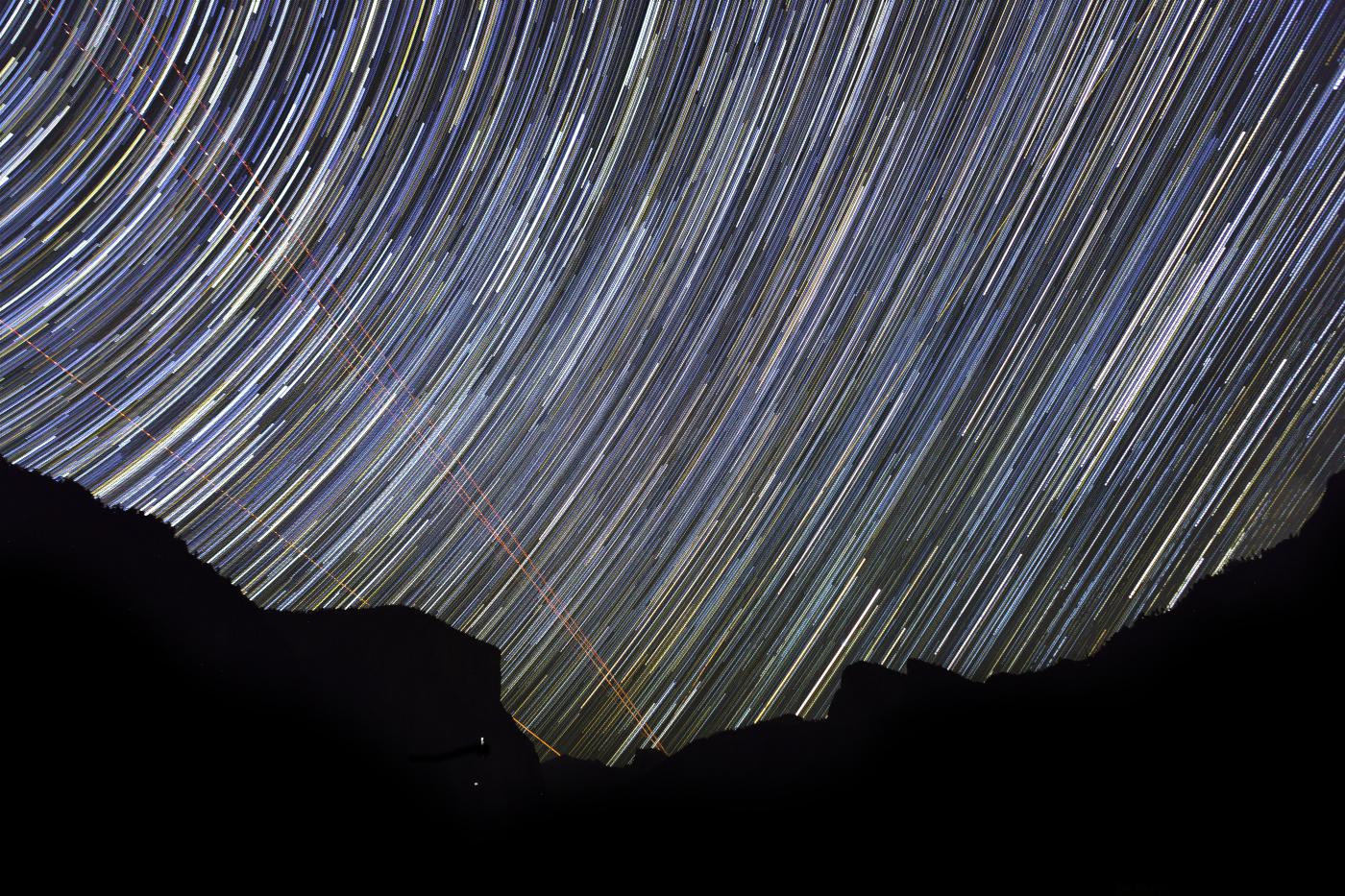 Star trails at Yosemite National Park in northern California. Credit: Jonathan Irish