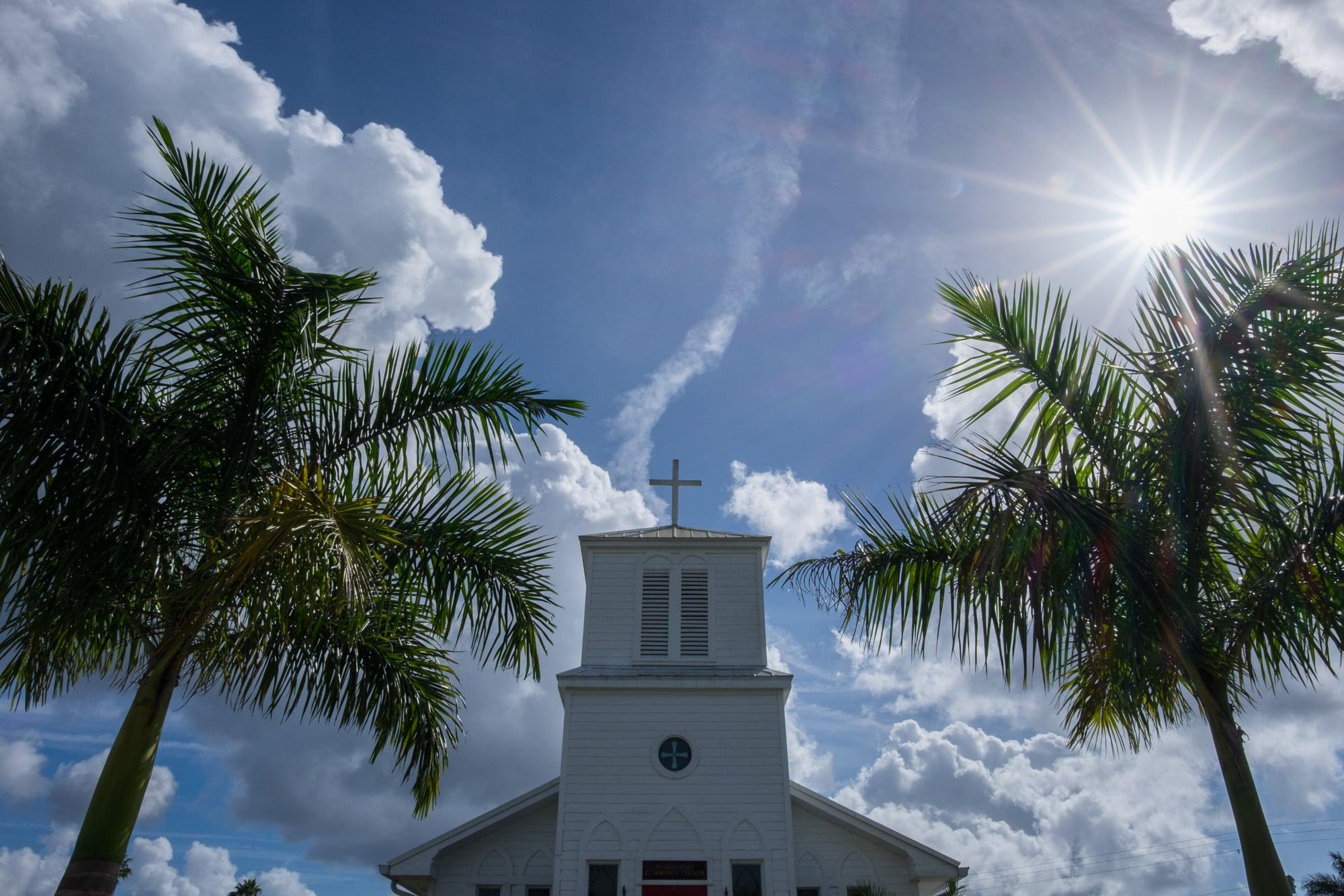 A local church in Everglades City.