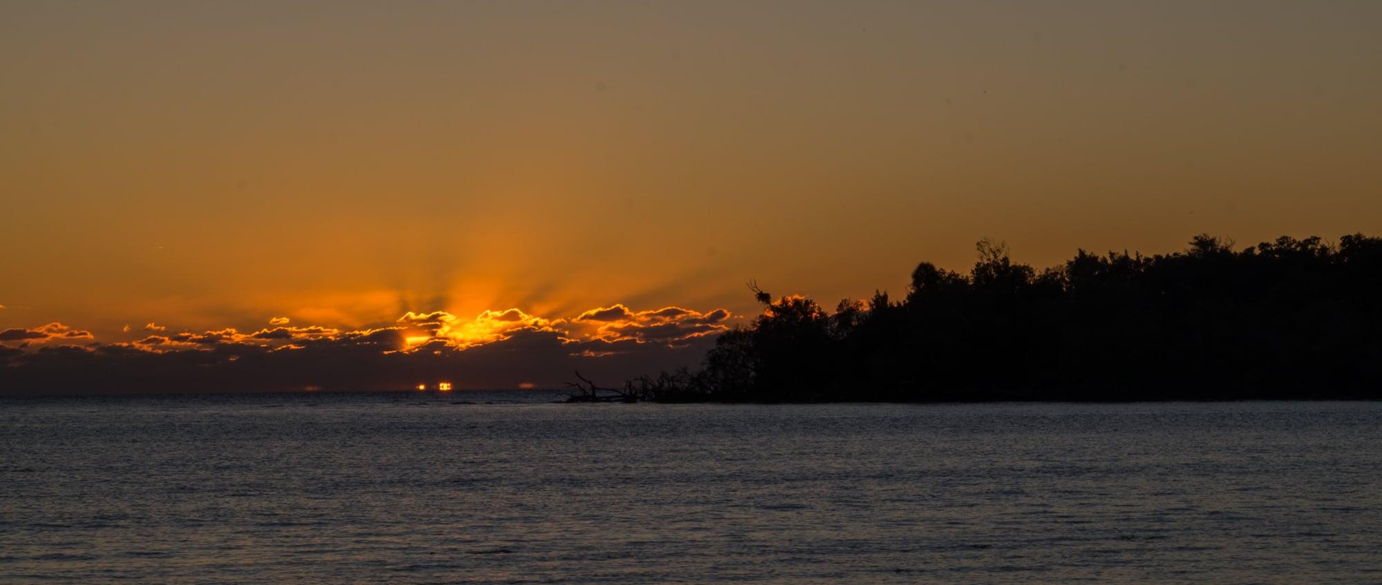 Sunset at Picnic Key.