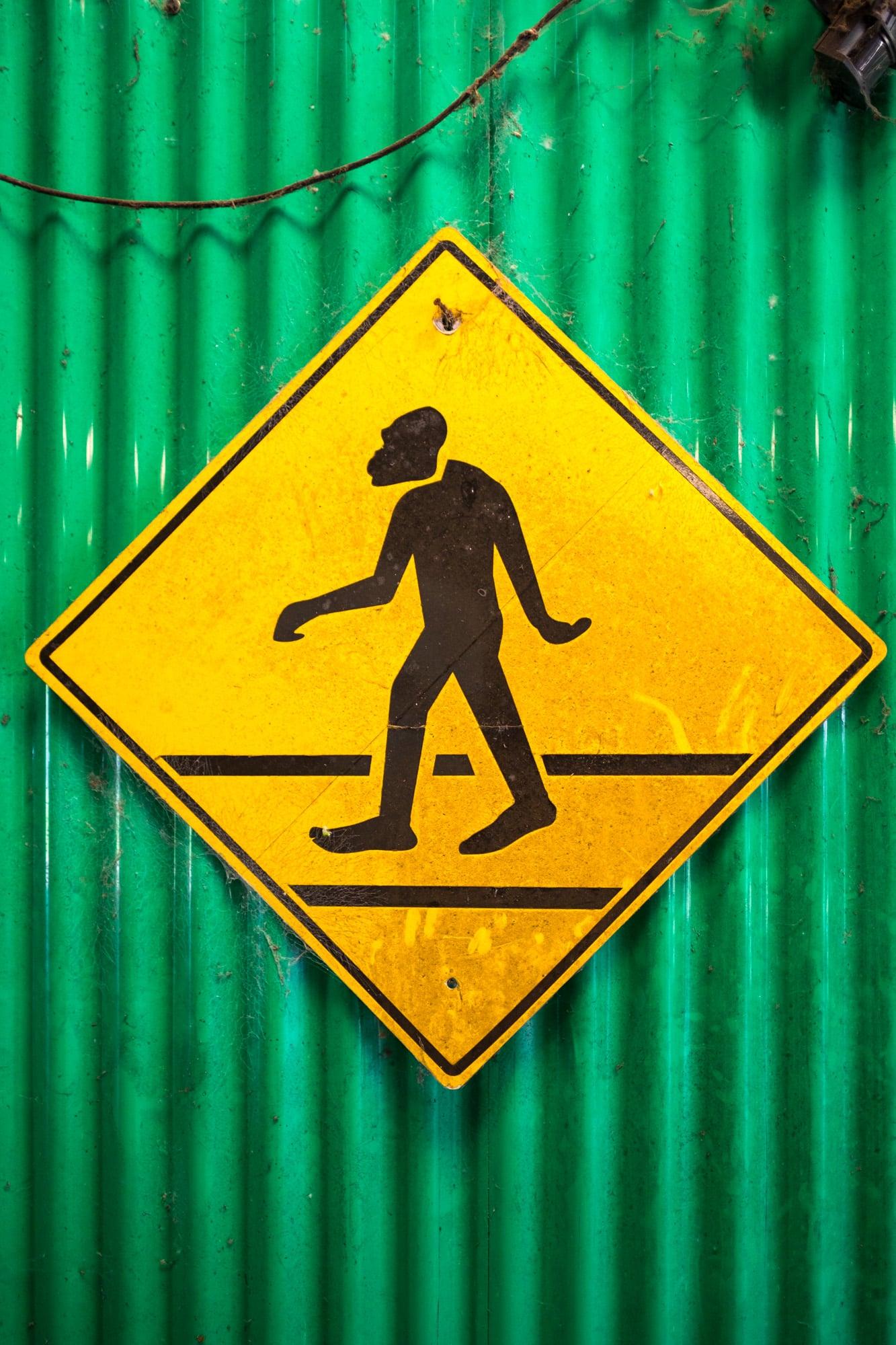 Beware of Skunk Ape crossing! The local bigfoot.